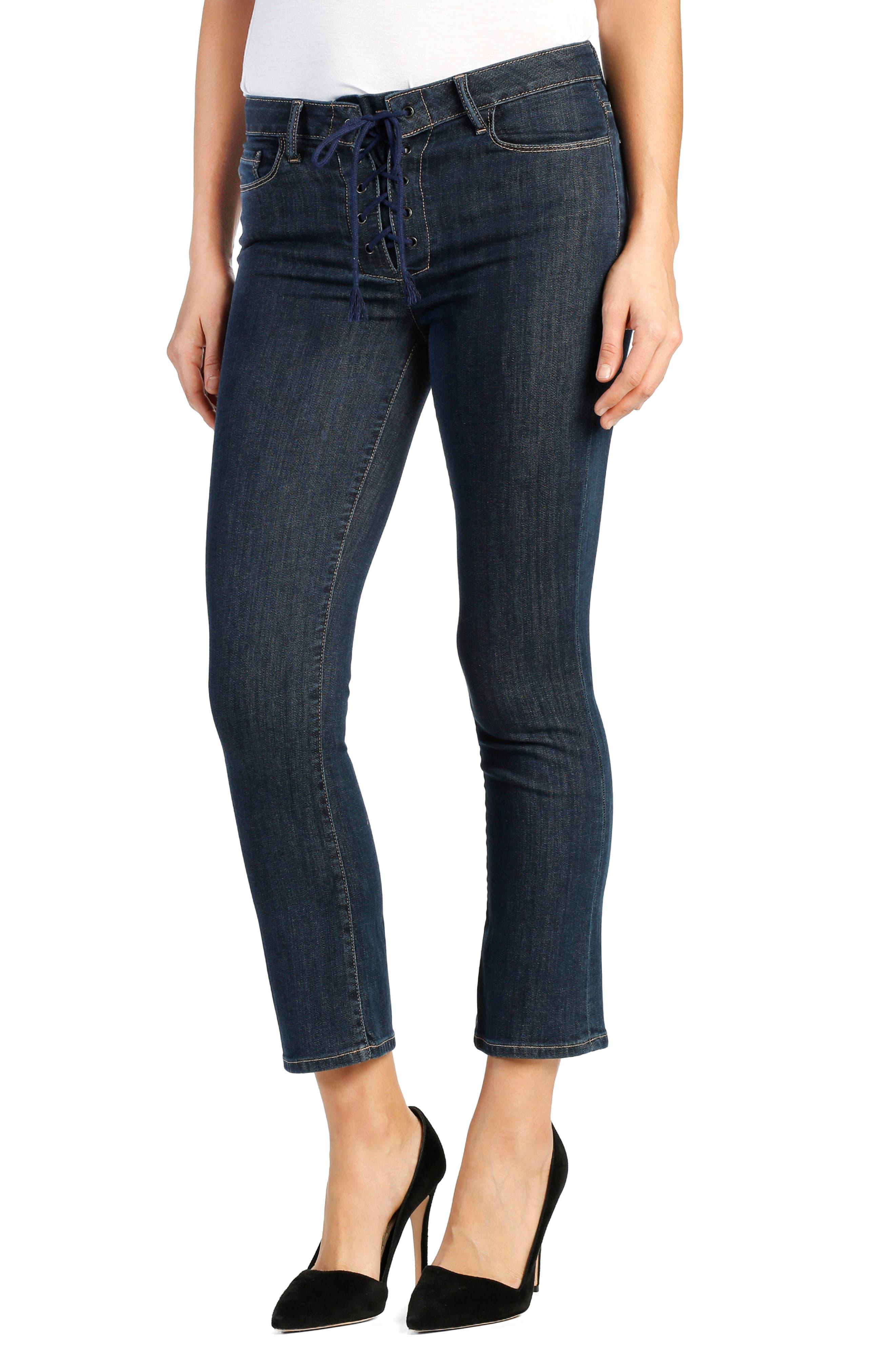 Legacy - Colette High Rise Lace-Up Crop Jeans,                             Main thumbnail 1, color,                             400