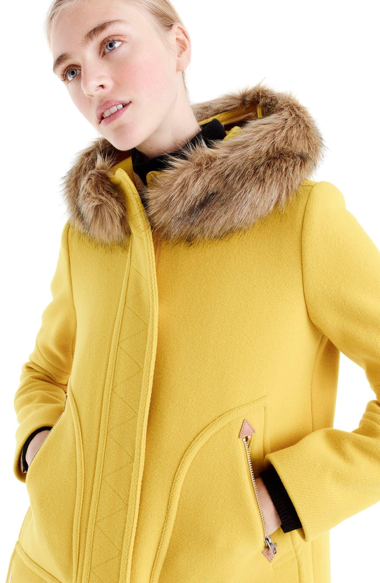 Chateau Stadium Cloth Parka with Faux Fur Trim,                             Alternate thumbnail 20, color,
