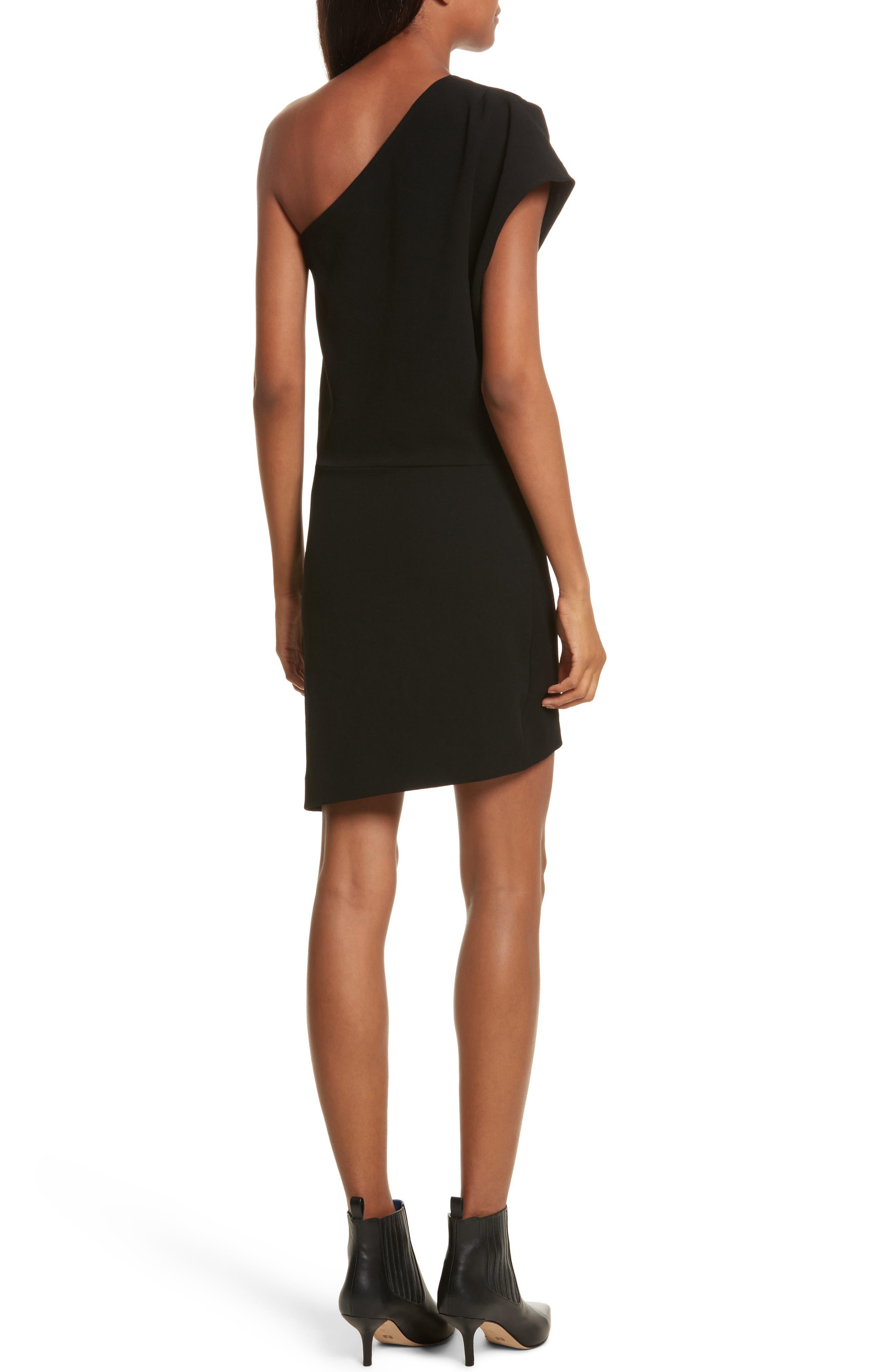 Davov One-Shoulder Envelope Hem Dress,                             Alternate thumbnail 2, color,                             001