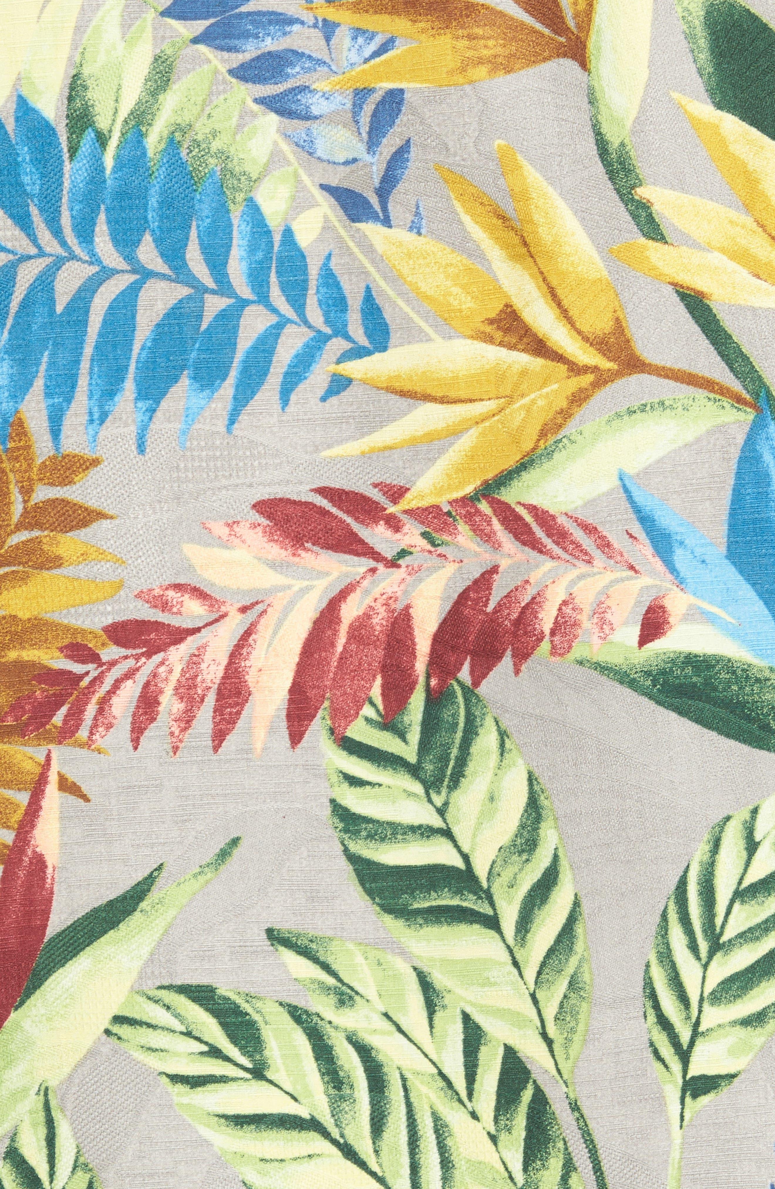 Taza Fronds Silk Brocade Woven Shirt,                             Alternate thumbnail 5, color,                             050