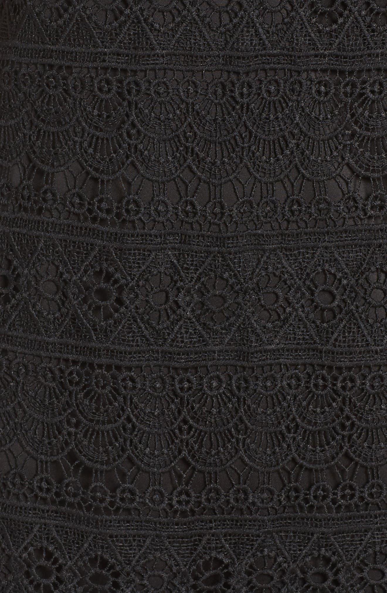 Terrace Time Lace Slipdress,                             Alternate thumbnail 6, color,                             001