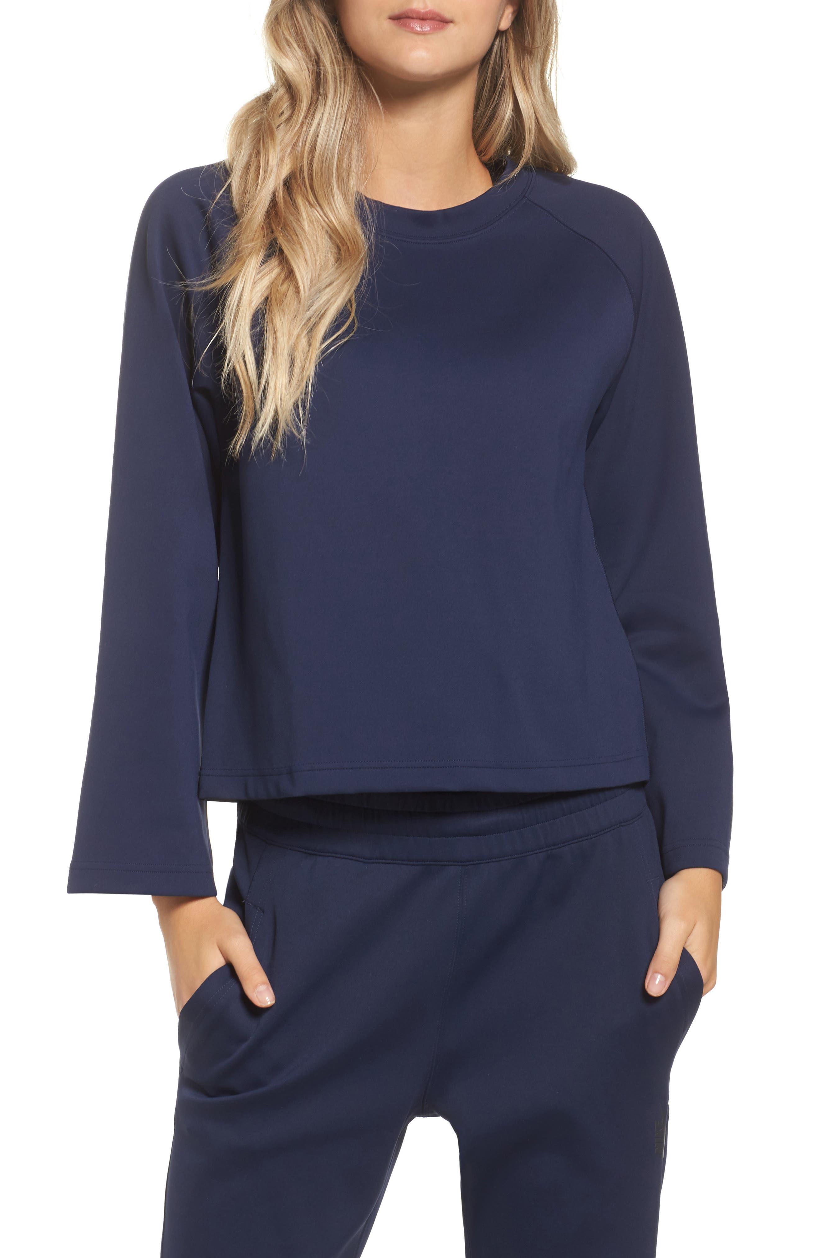 NikeLab Essentials Women's Fleece Top,                             Main thumbnail 2, color,