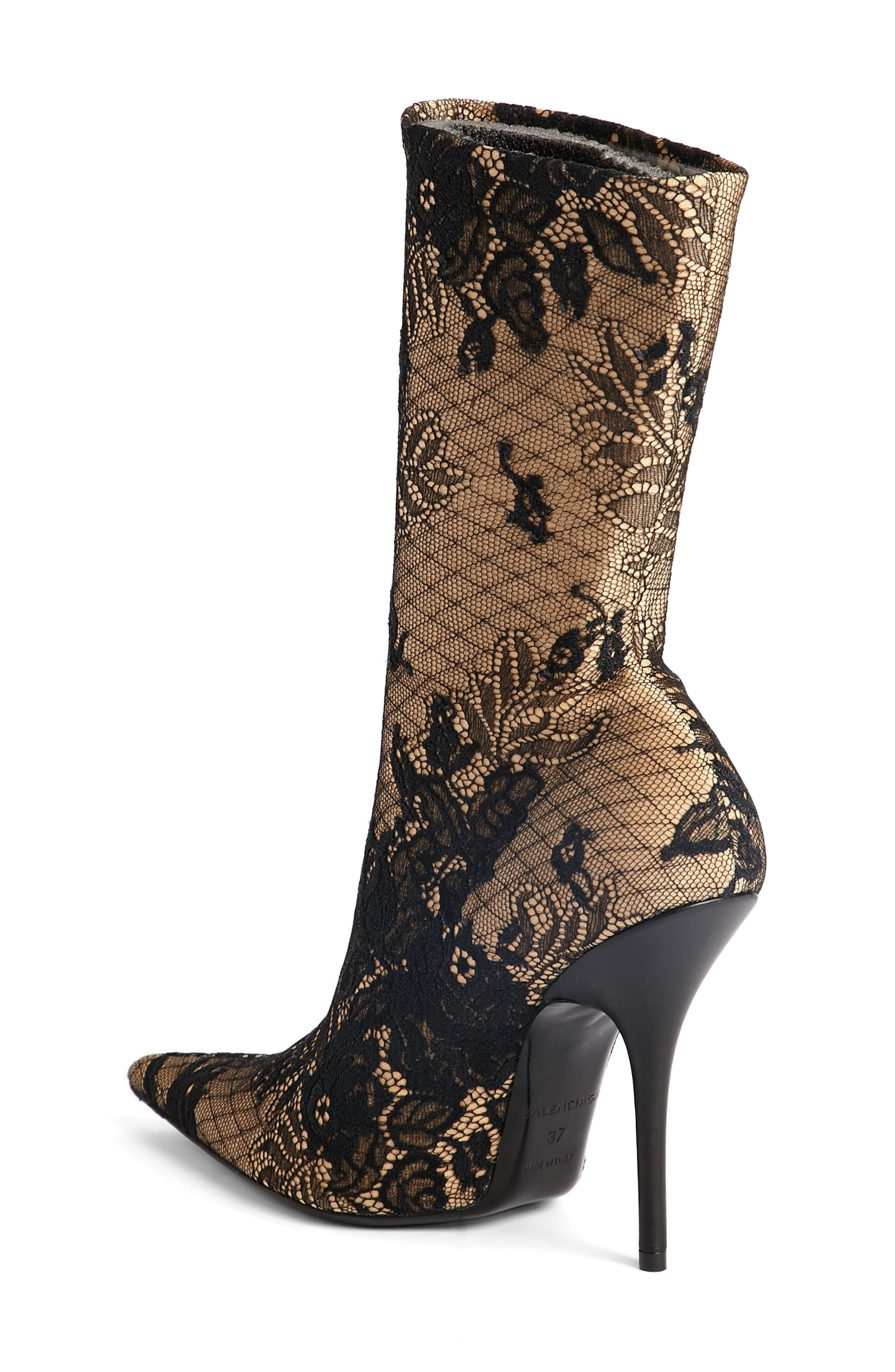 Pointy Toe Mid Boot,                             Alternate thumbnail 2, color,                             002