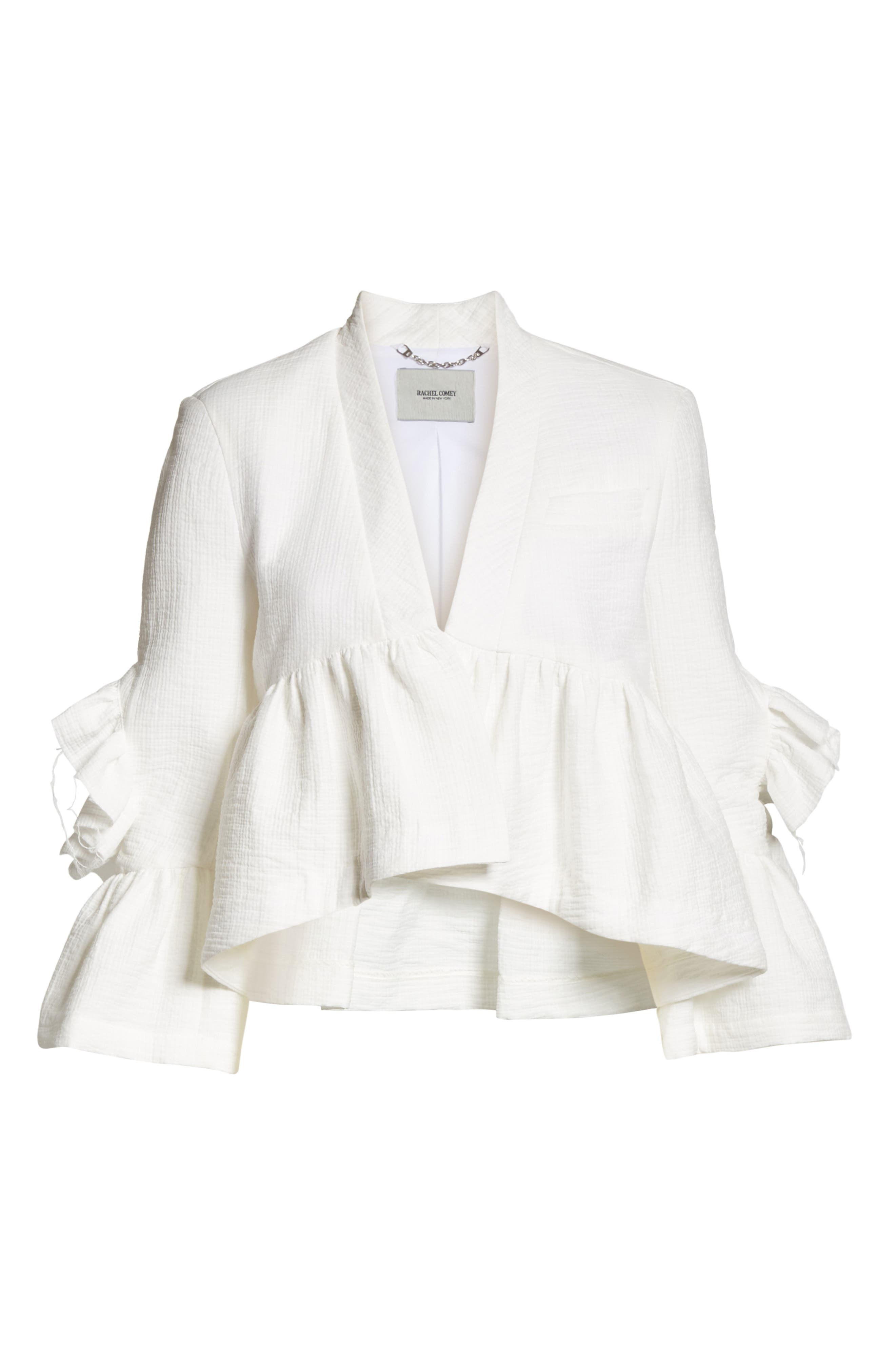 Frida Jacket,                             Alternate thumbnail 5, color,                             WHITE