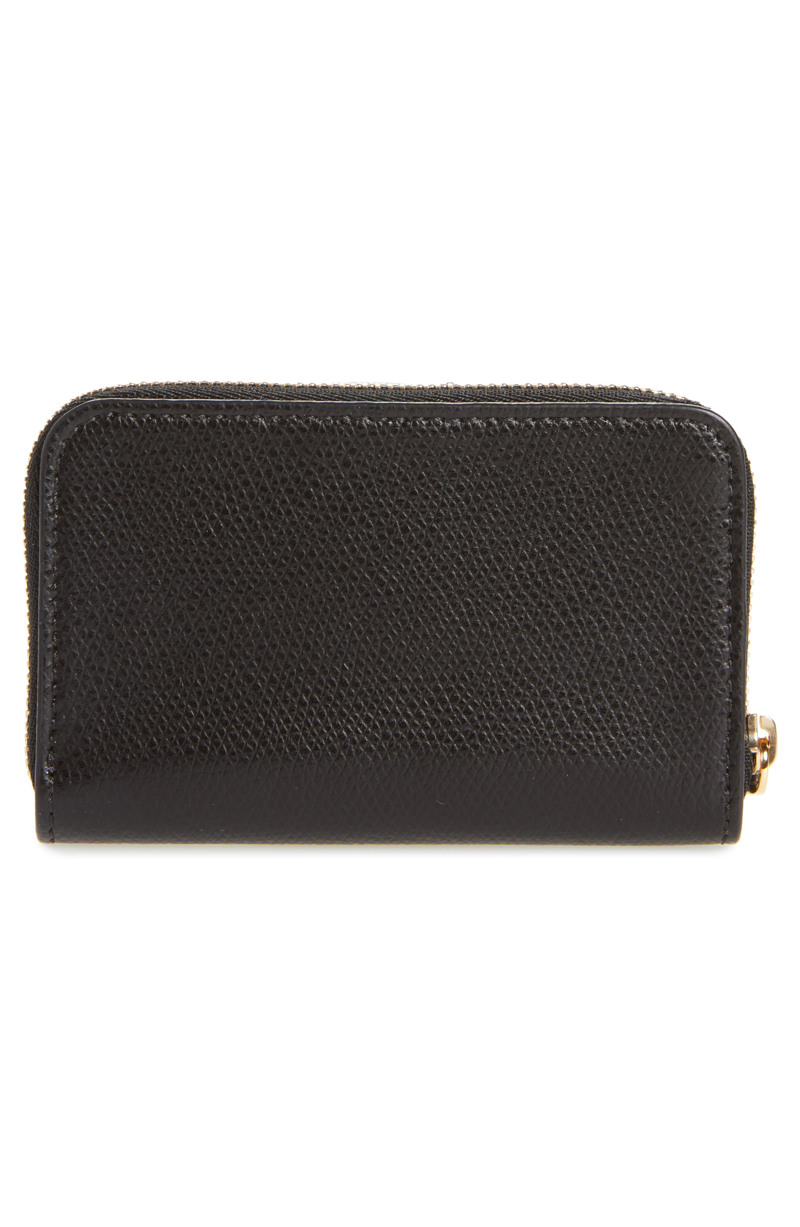 Pebbled Leather Card Wallet,                             Alternate thumbnail 3, color,                             001