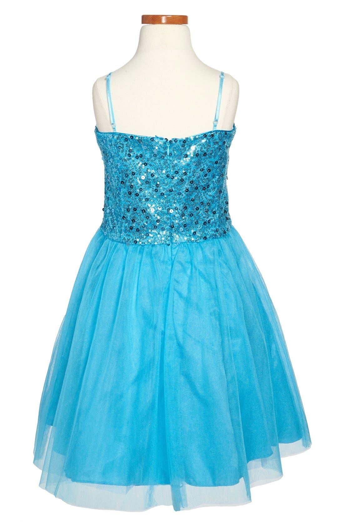 Sequin Party Dress,                             Alternate thumbnail 5, color,