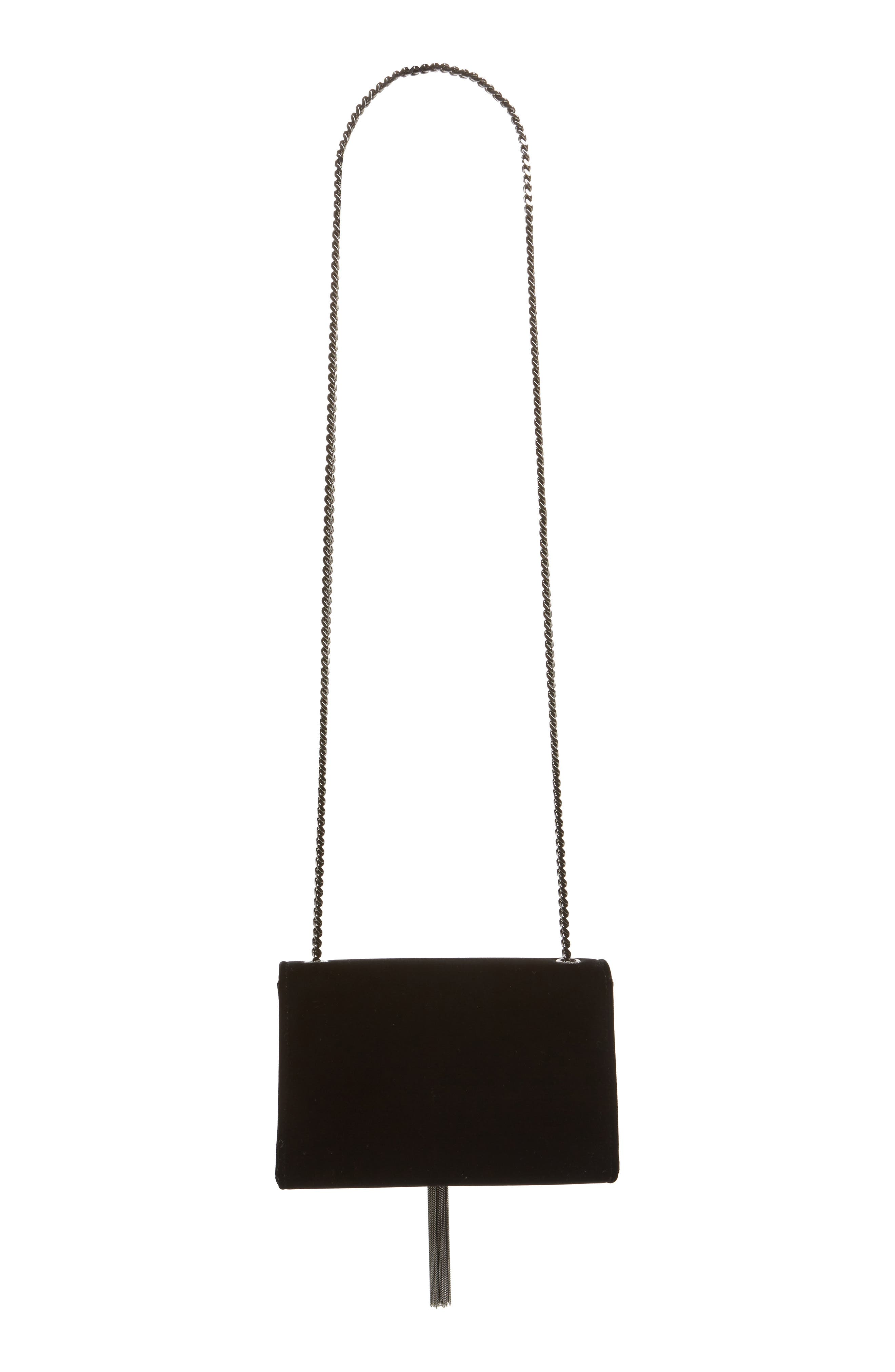 Small Kate Velvet Crossbody Bag,                             Alternate thumbnail 4, color,