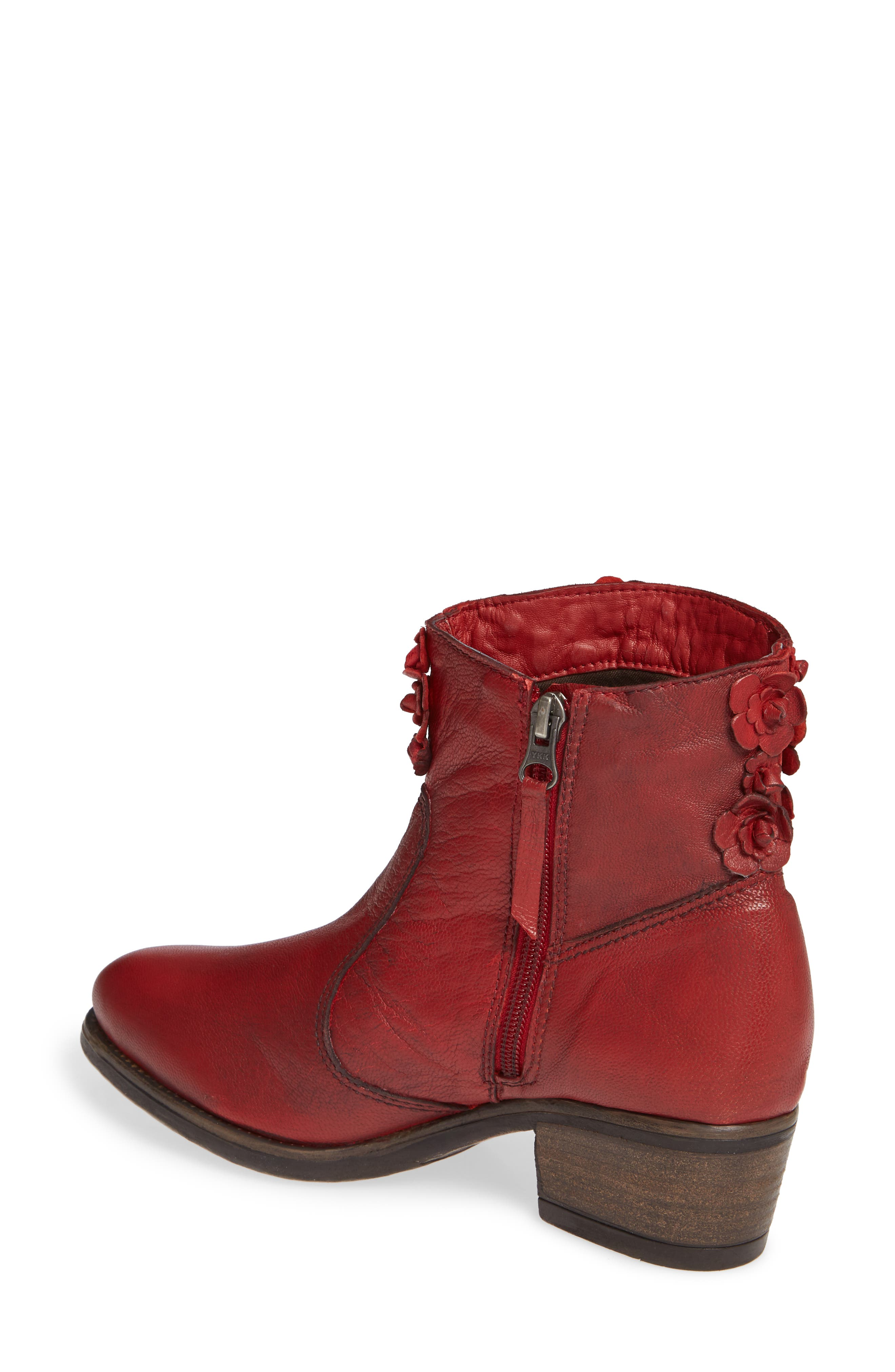 Sapphire Bootie,                             Alternate thumbnail 2, color,                             RED LEATHER