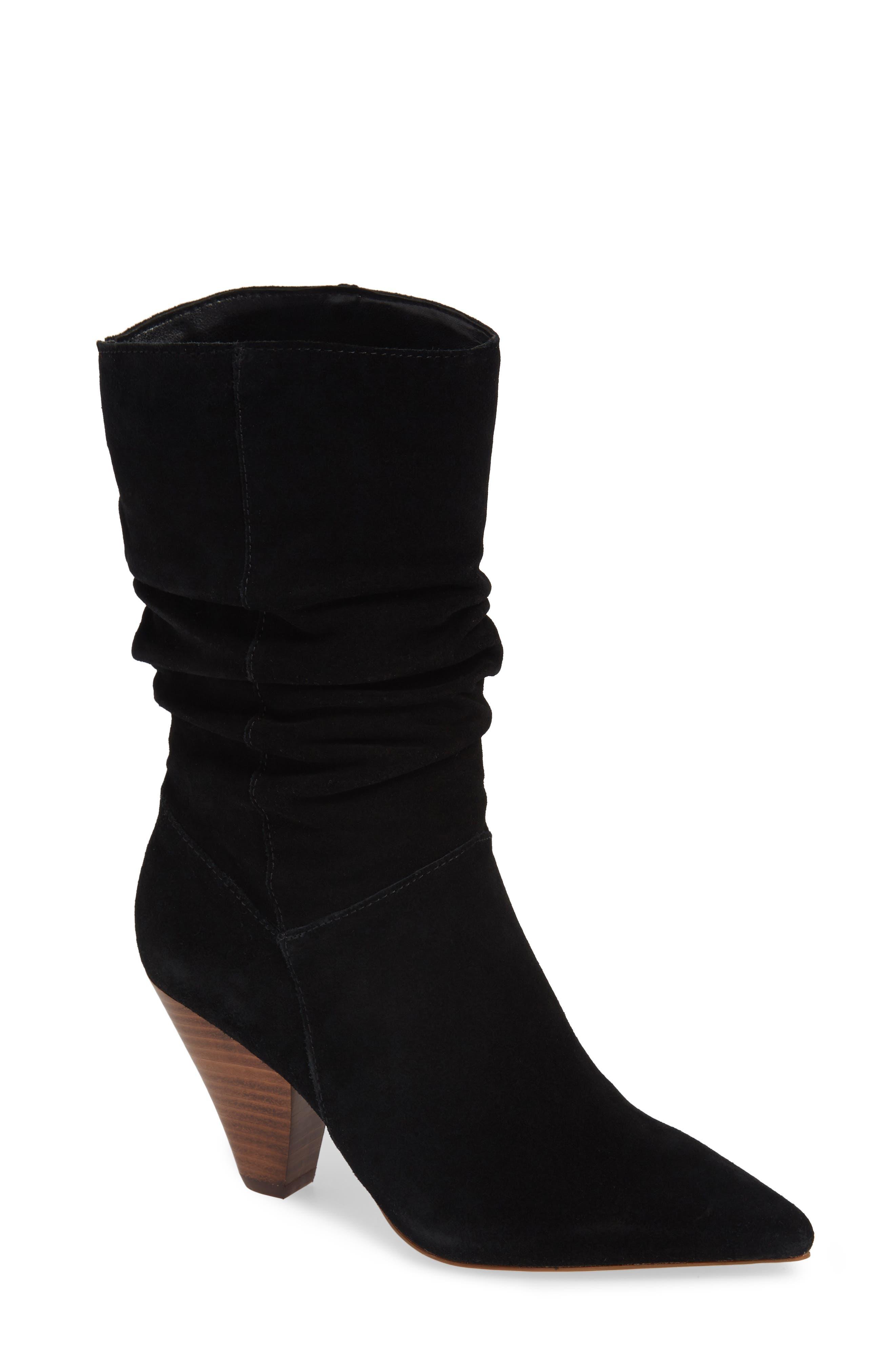 KENSIE Kirsten Boot in Black Suede