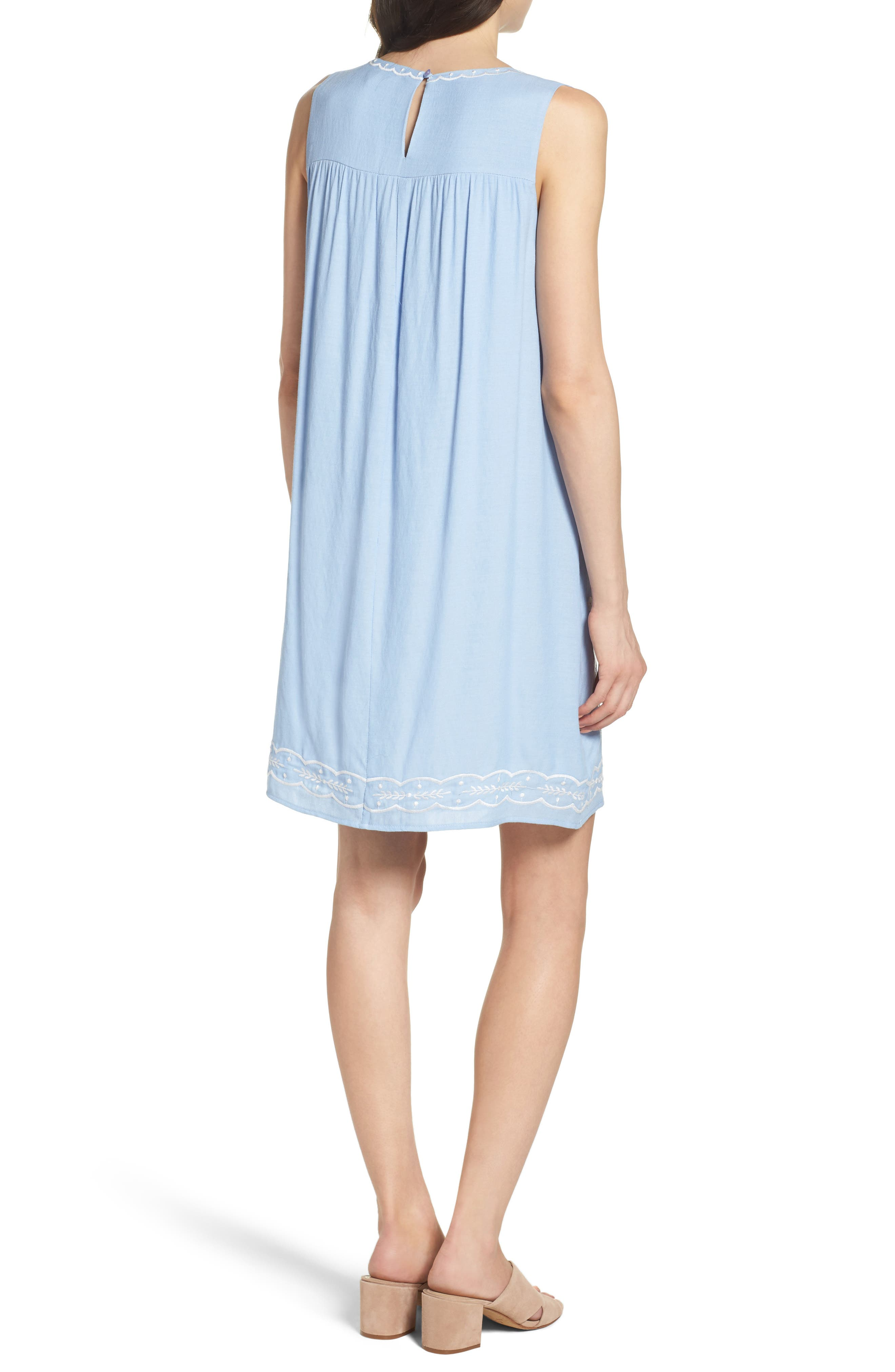 THML,                             Embroidered Babydoll Dress,                             Alternate thumbnail 2, color,                             400
