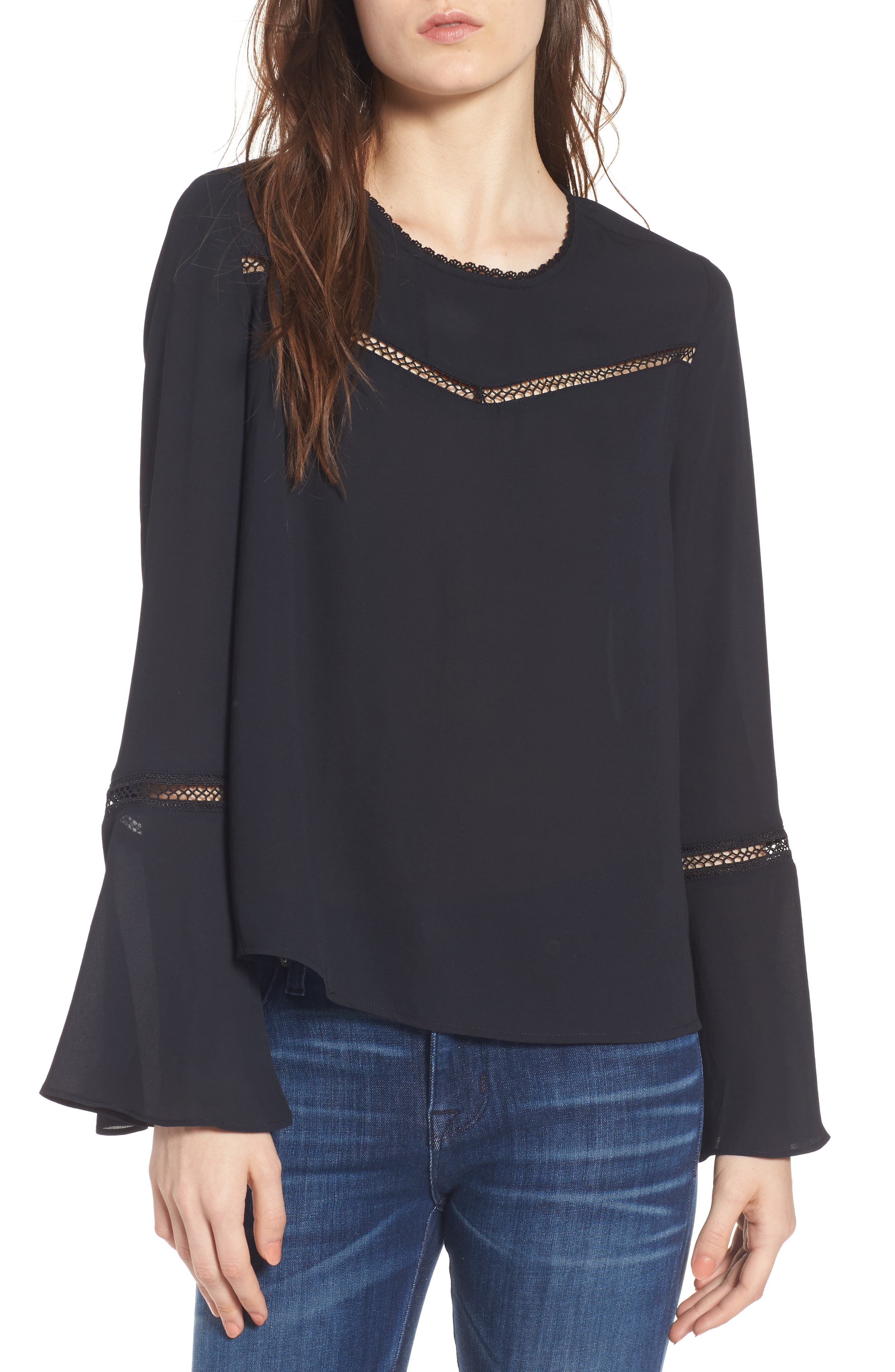 Chava Bell Sleeve Top,                             Main thumbnail 1, color,                             001