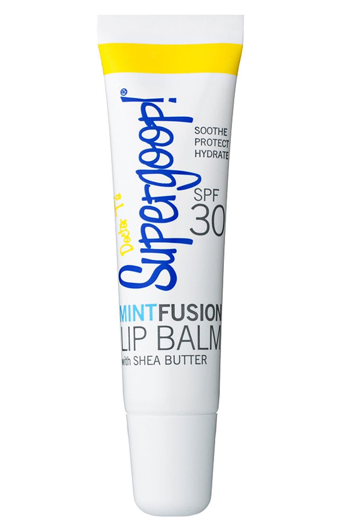 Supergoop! 'MintFusion' Lip Balm SPF 30,                             Main thumbnail 1, color,                             000