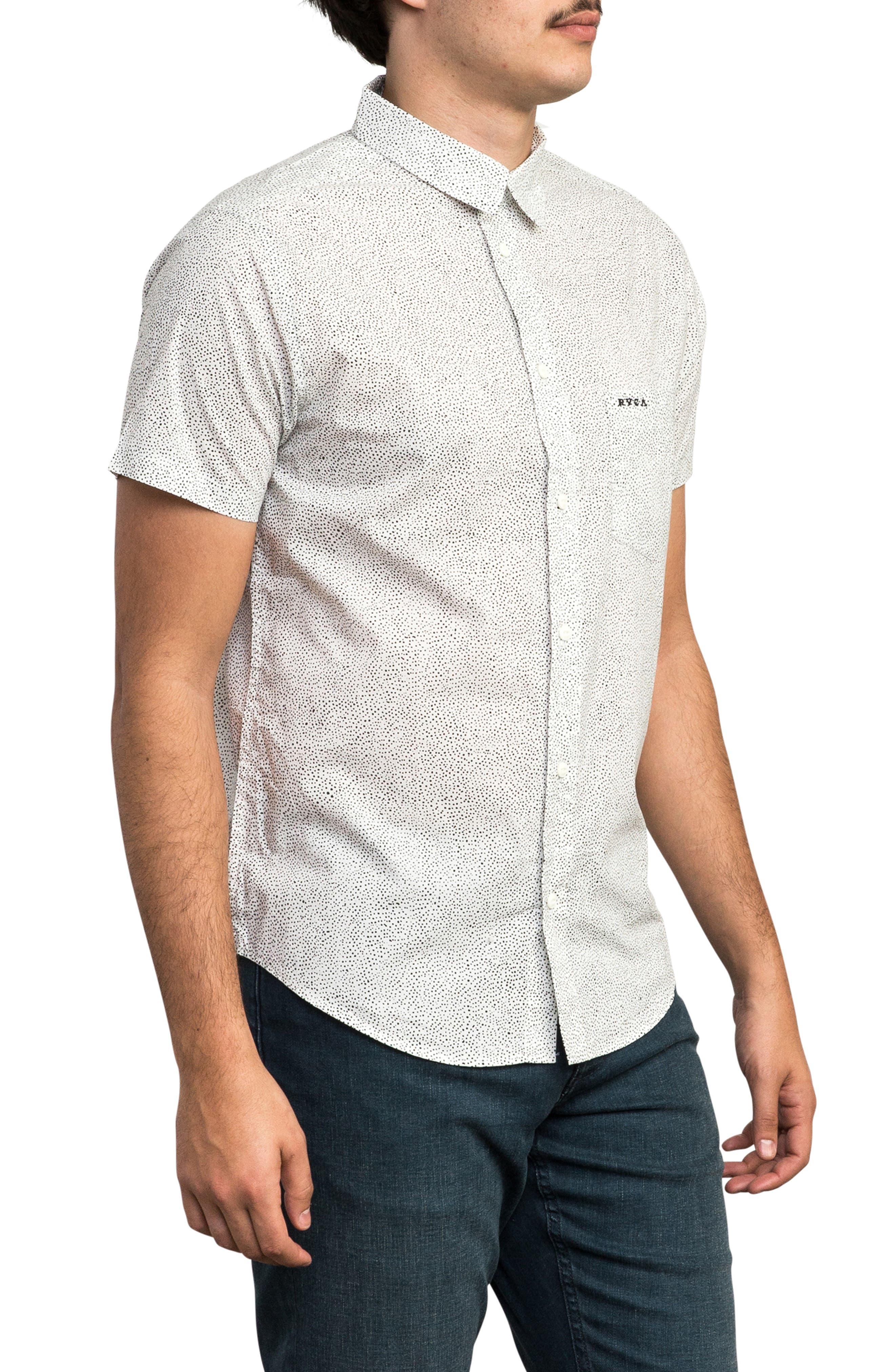 Benji Short Sleeve Woven Shirt,                             Alternate thumbnail 4, color,                             ANTIQUE WHITE