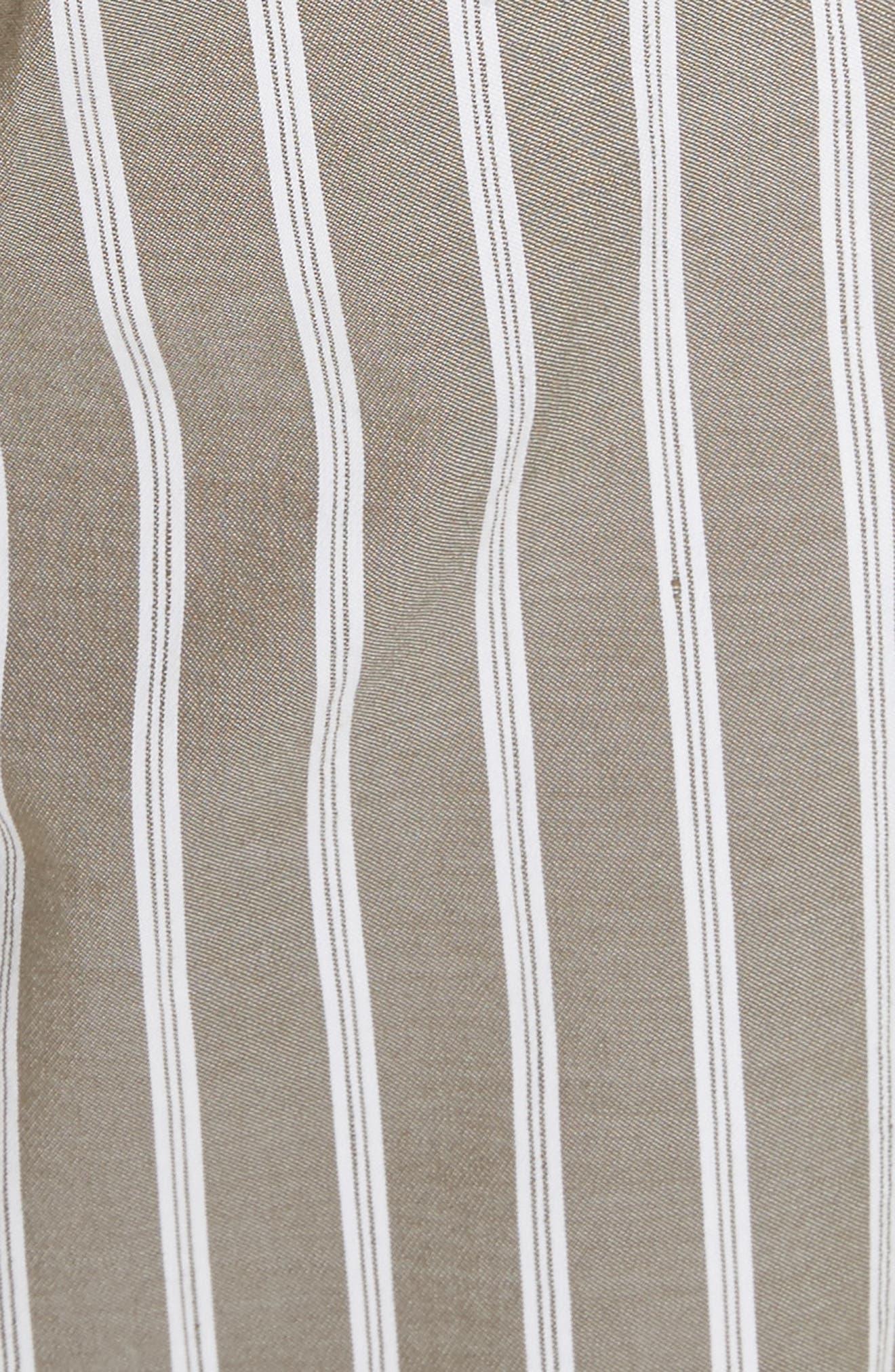 Fulton Desert Stripe Cotton & Linen Pants,                             Alternate thumbnail 5, color,