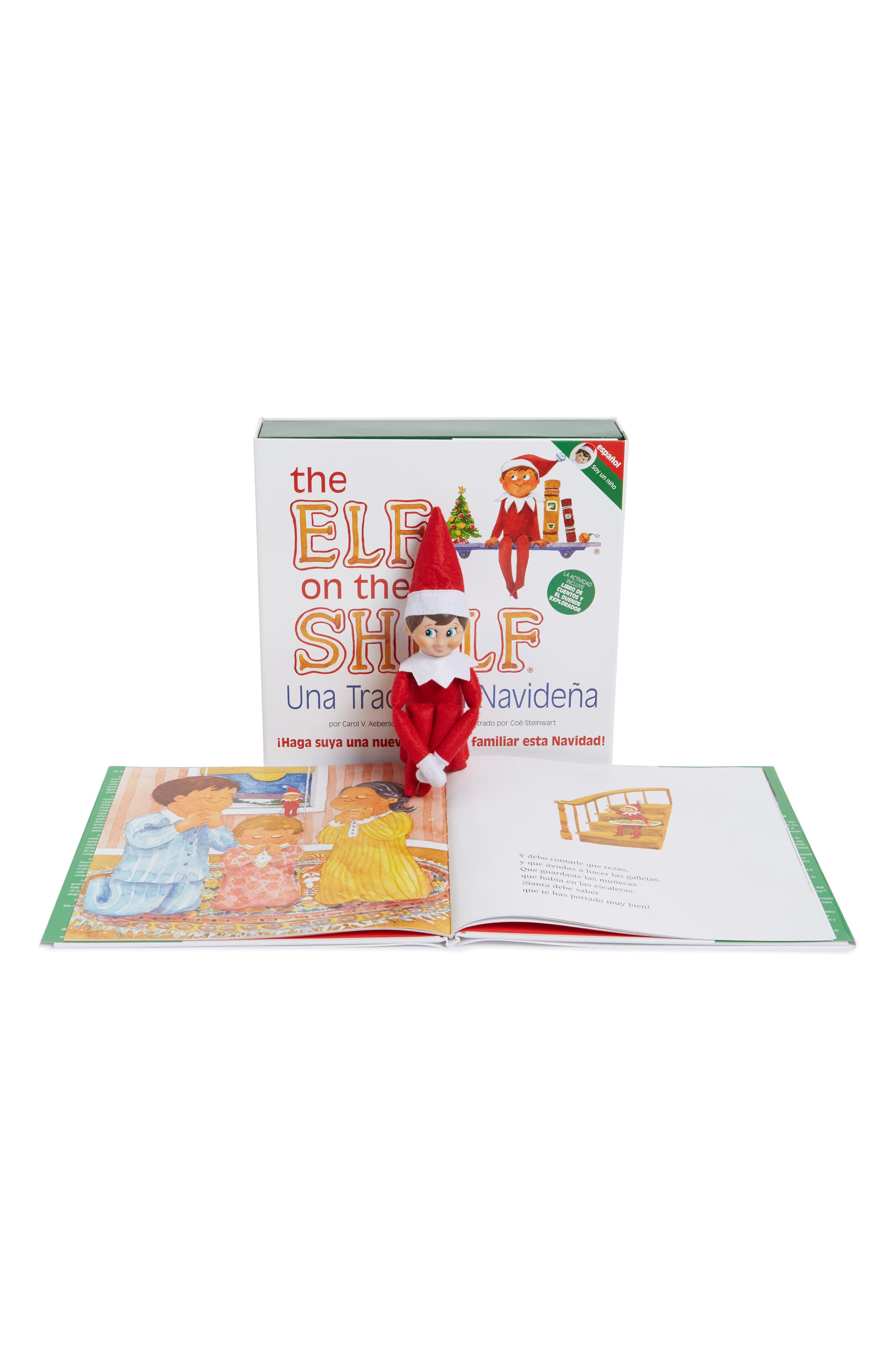Carol Aebersold and Chanda Bell 'The Elf on the Shelf<sup>®</sup>: A Christmas Tradition<sup>™</sup>' Book & Elf,                             Alternate thumbnail 2, color,                             SPANISH VERSION - BOY