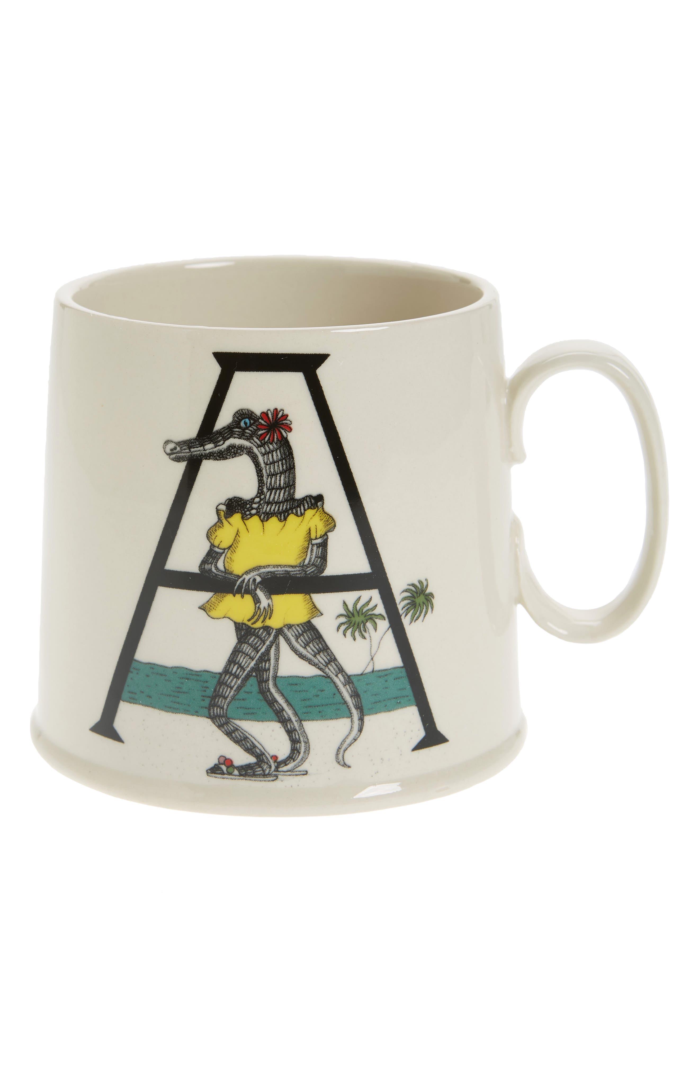 Animal Alphabet Monogram Mug,                         Main,                         color, 100