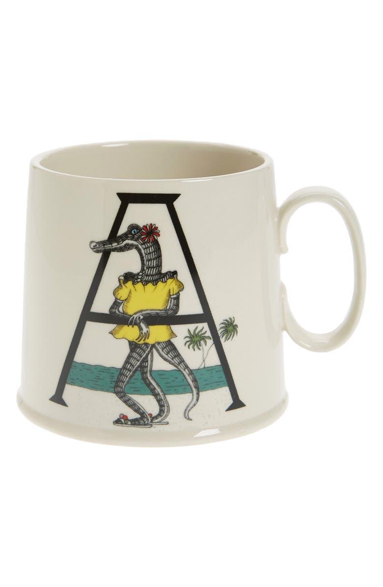 anthropologie animal alphabet monogram mug nordstrom