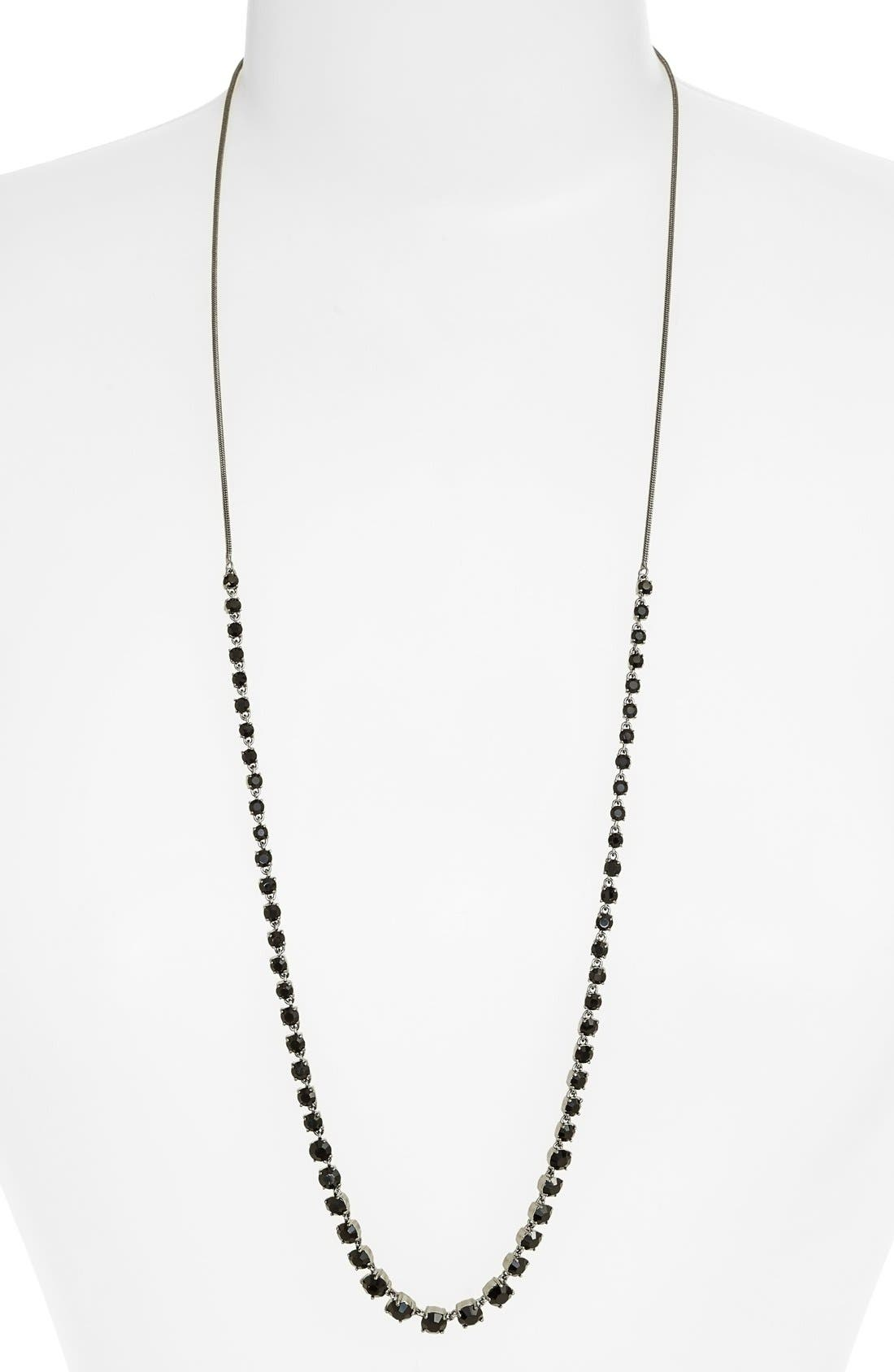 Jeweled Long Necklace,                         Main,                         color, 001