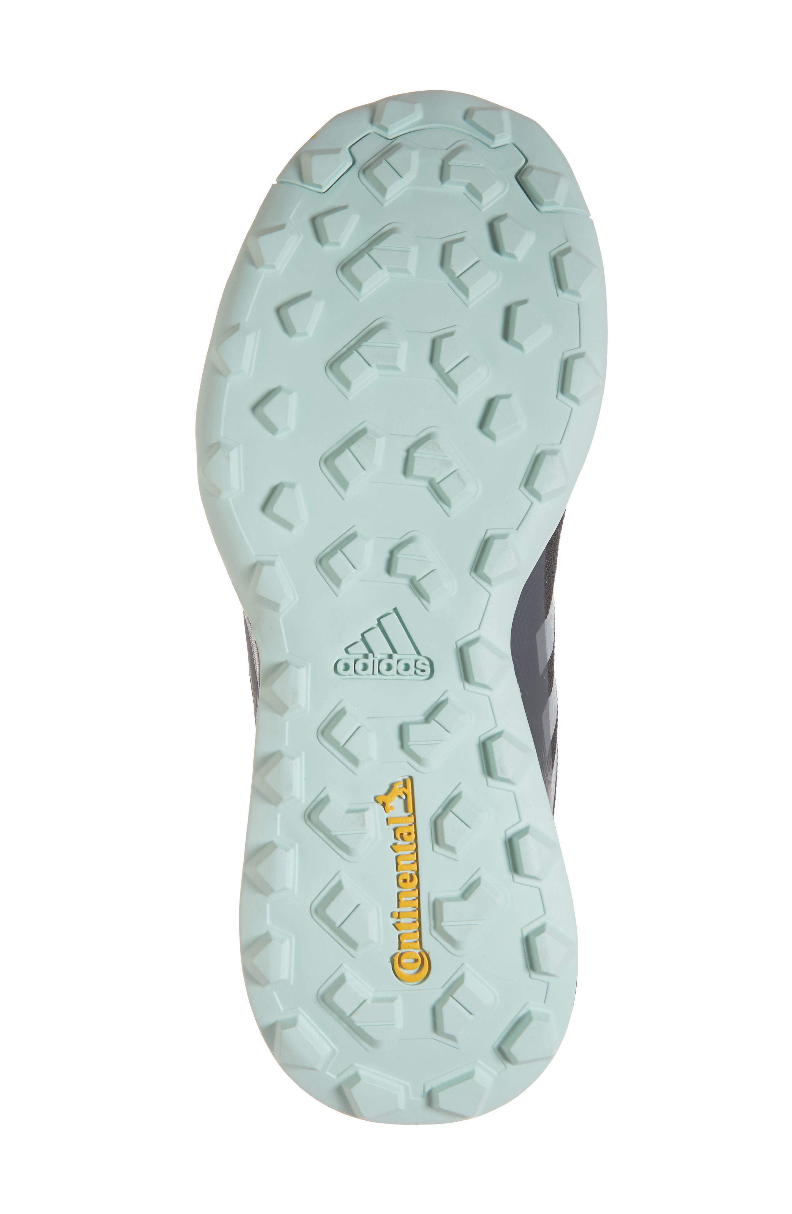 Terrex CMTK Gore-Tex<sup>®</sup> Waterproof Hiking Sneaker,                             Alternate thumbnail 6, color,                             BLACK/ CHALK WHITE/ ASH GREEN