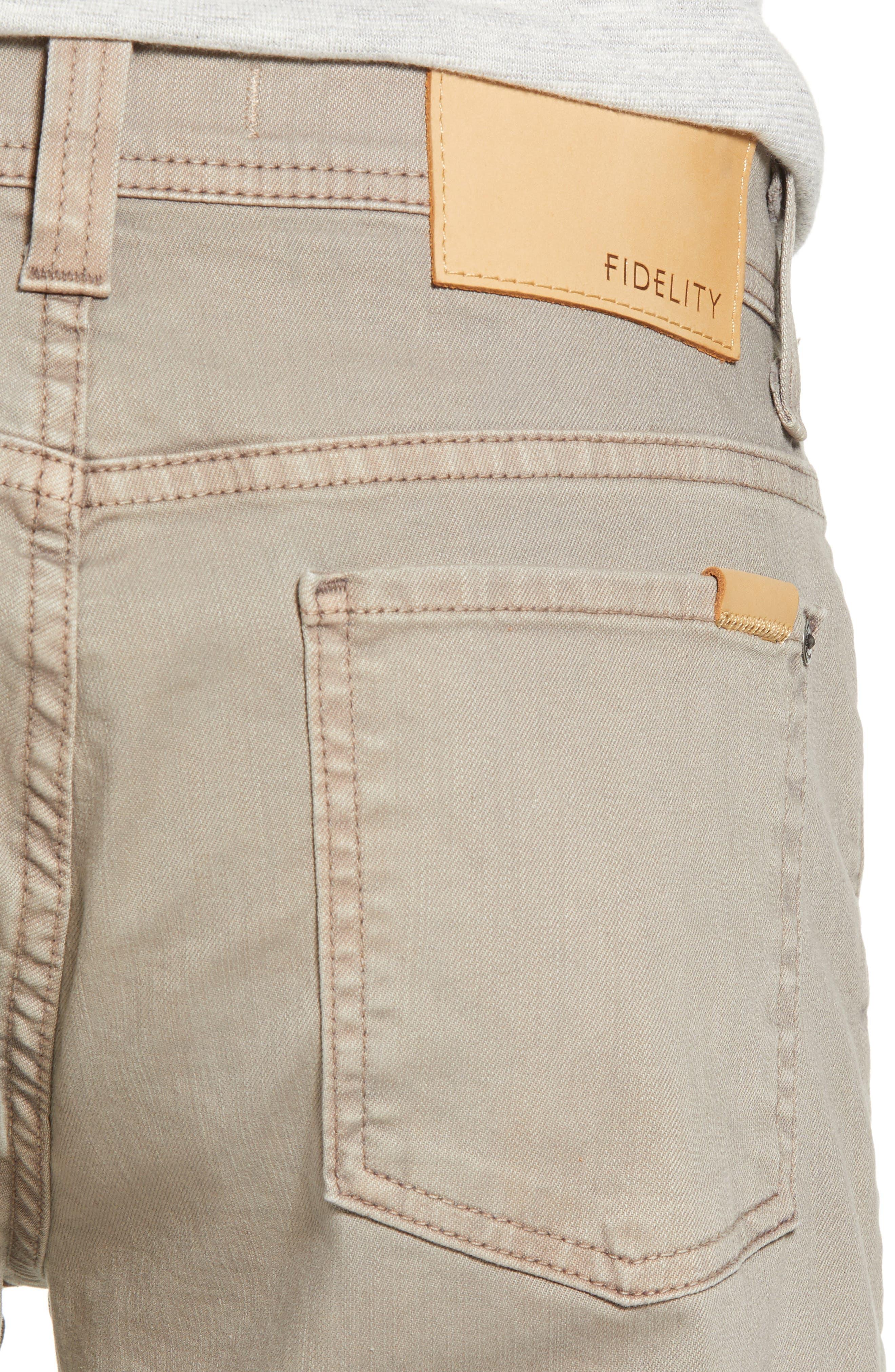 Jimmy Slim Straight Leg Jeans,                             Alternate thumbnail 4, color,                             KHAKI