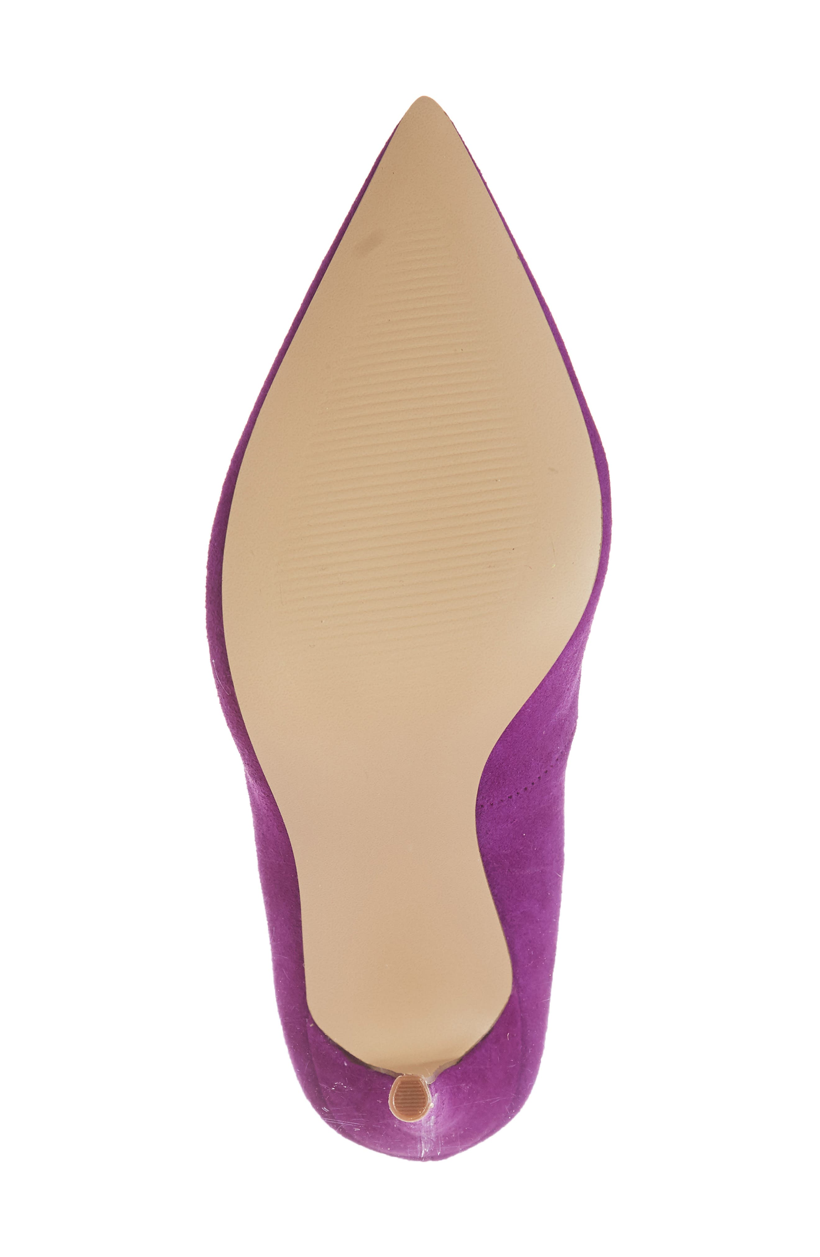 Daisie Pointy-Toe Pump,                             Alternate thumbnail 6, color,                             PURPLE SUEDE