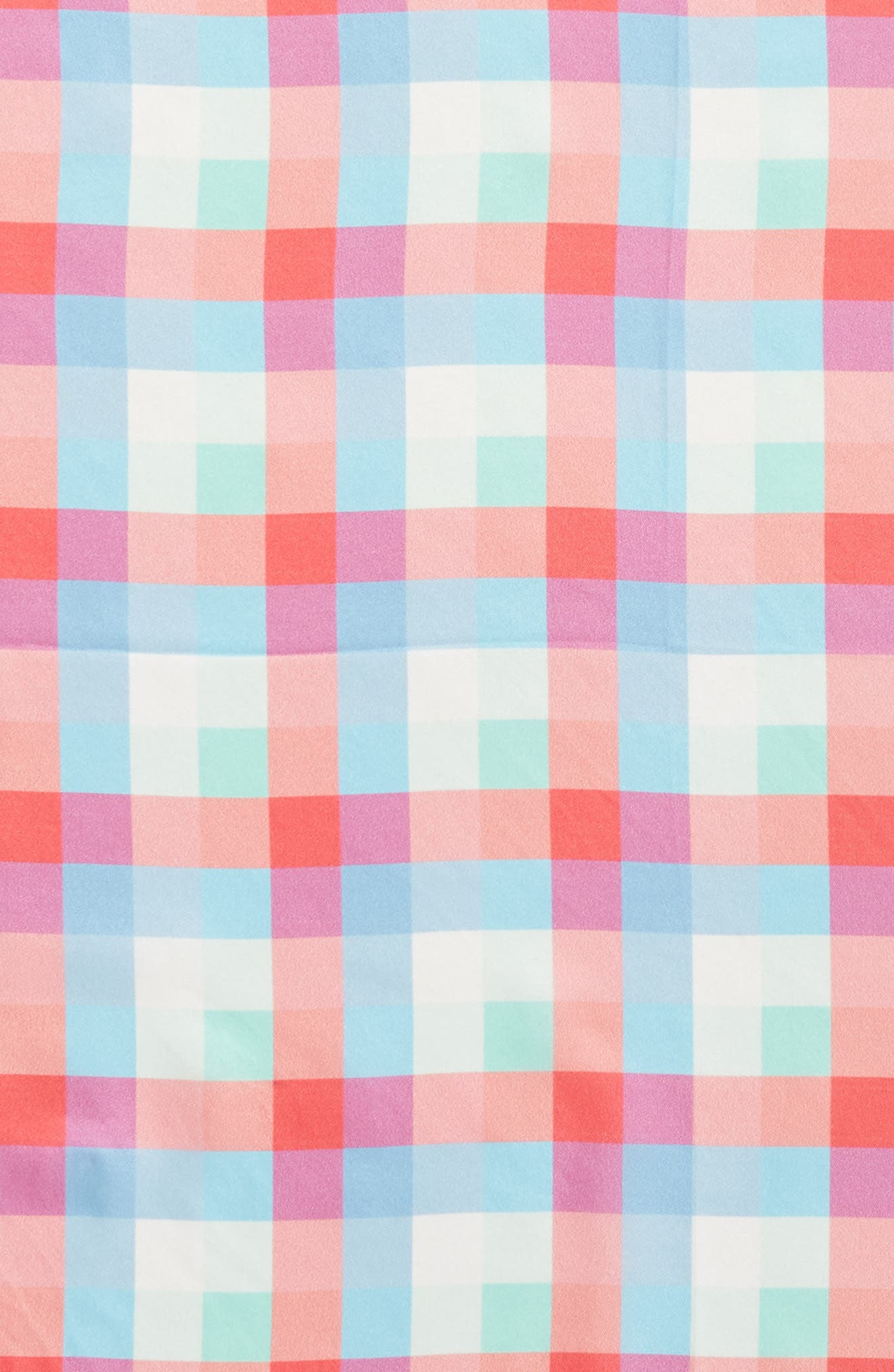 madras plaid silk bandana,                             Alternate thumbnail 4, color,                             900