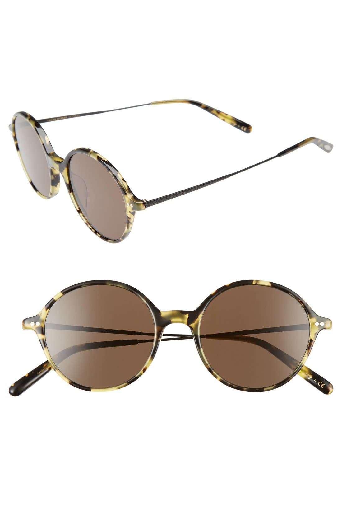 Corby 51mm Round Sunglasses,                             Main thumbnail 1, color,