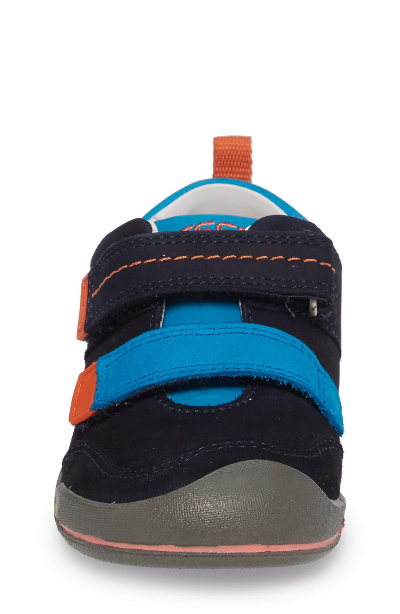 Sprout Double Strap Sneaker,                             Alternate thumbnail 4, color,                             DRESS BLUES/ KOI