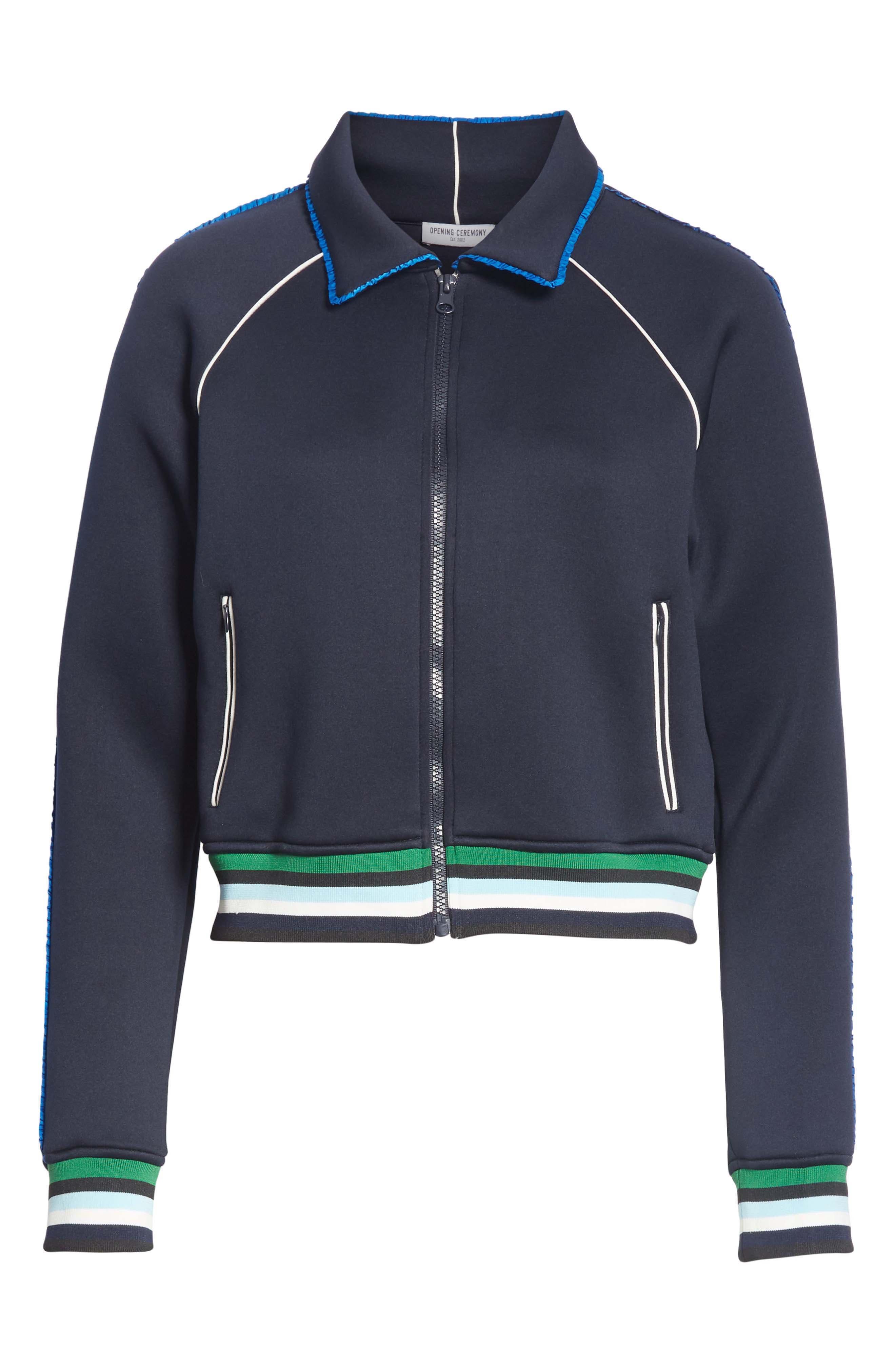 Spongy Track Jacket,                             Alternate thumbnail 6, color,                             PERSIAN BLUE