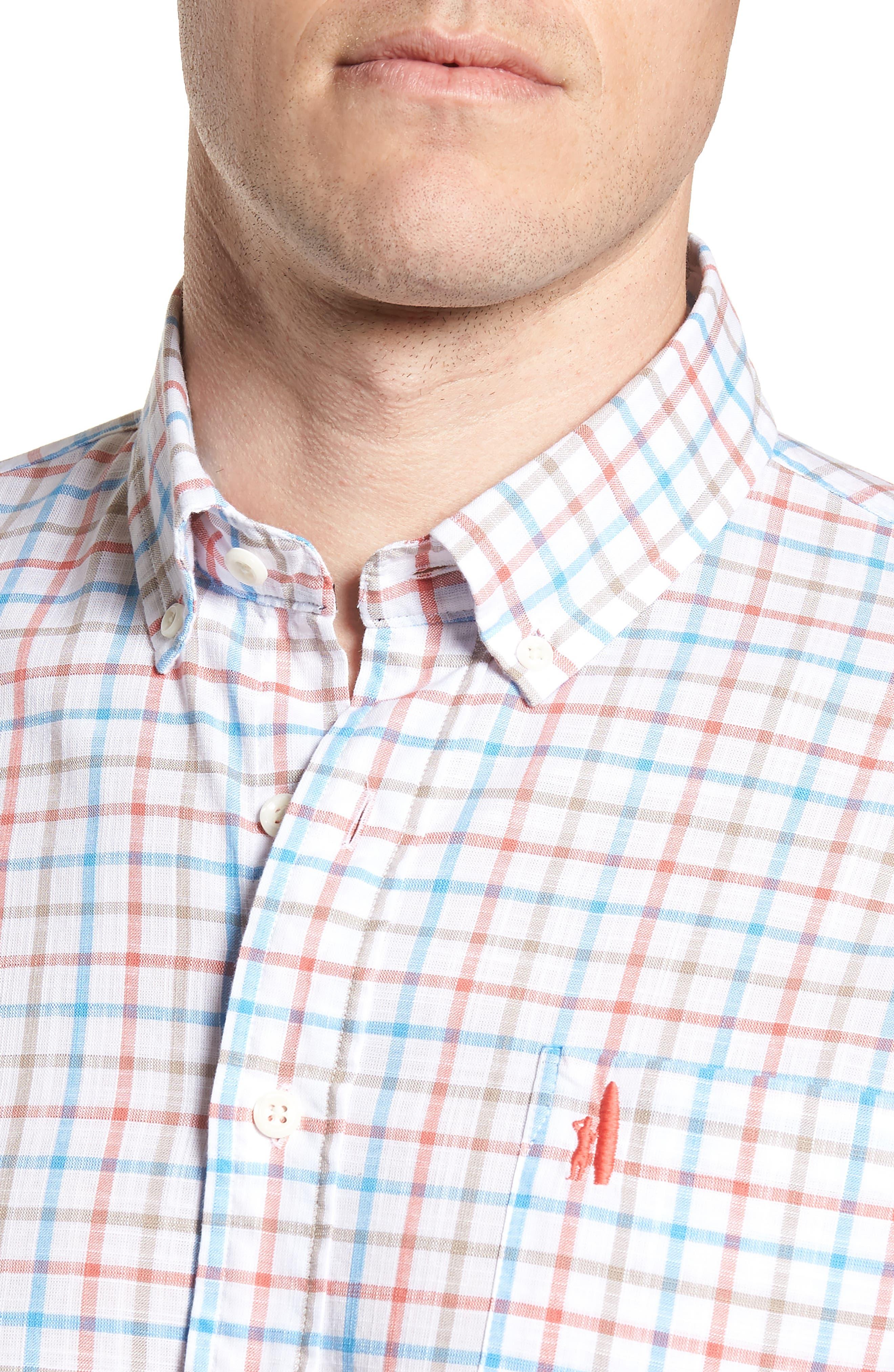 Grayson Regular Fit Sport Shirt,                             Alternate thumbnail 4, color,                             667