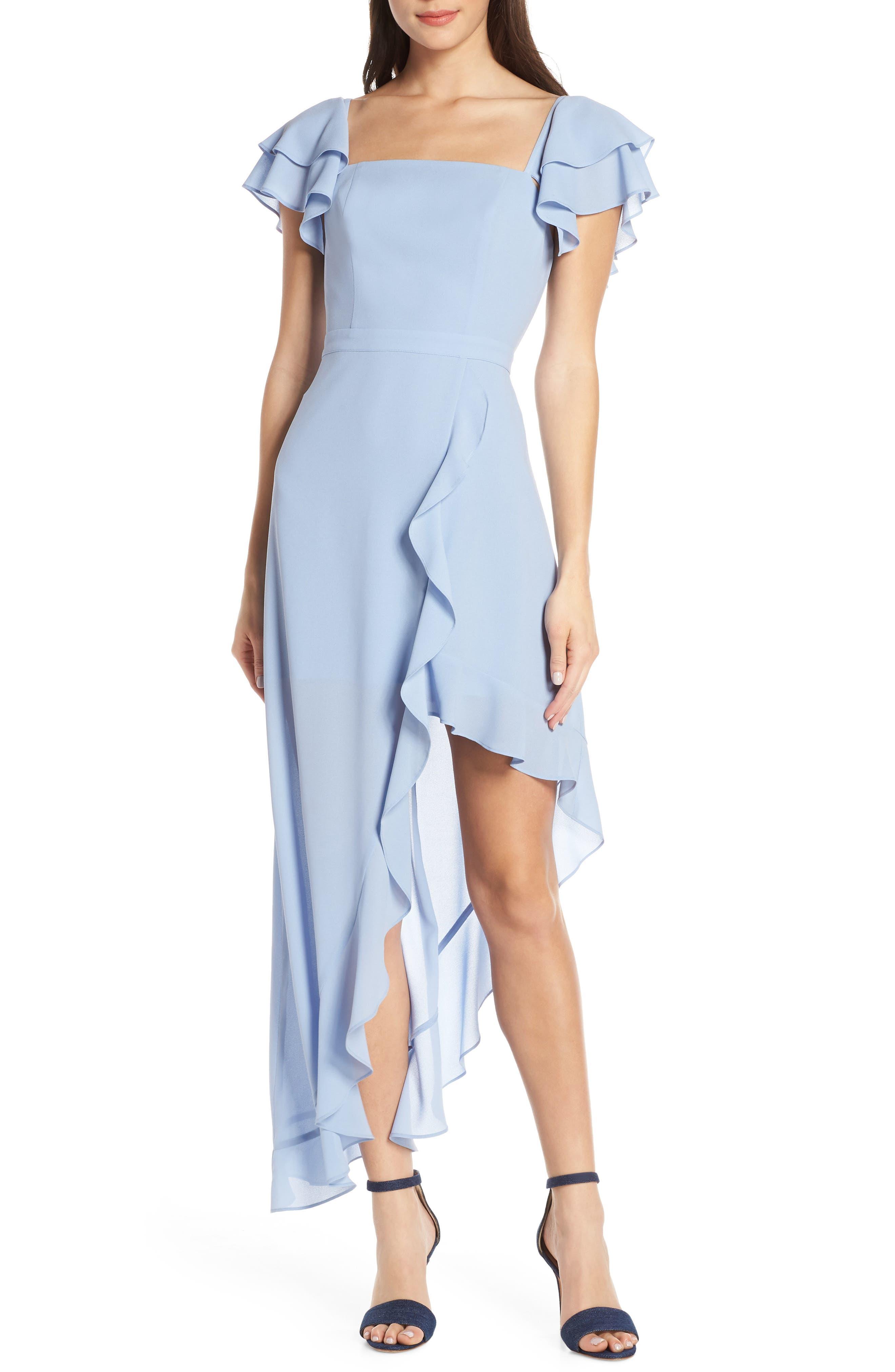Ali & Jay Terrace Time Asymmetrical Maxi Dress, Blue
