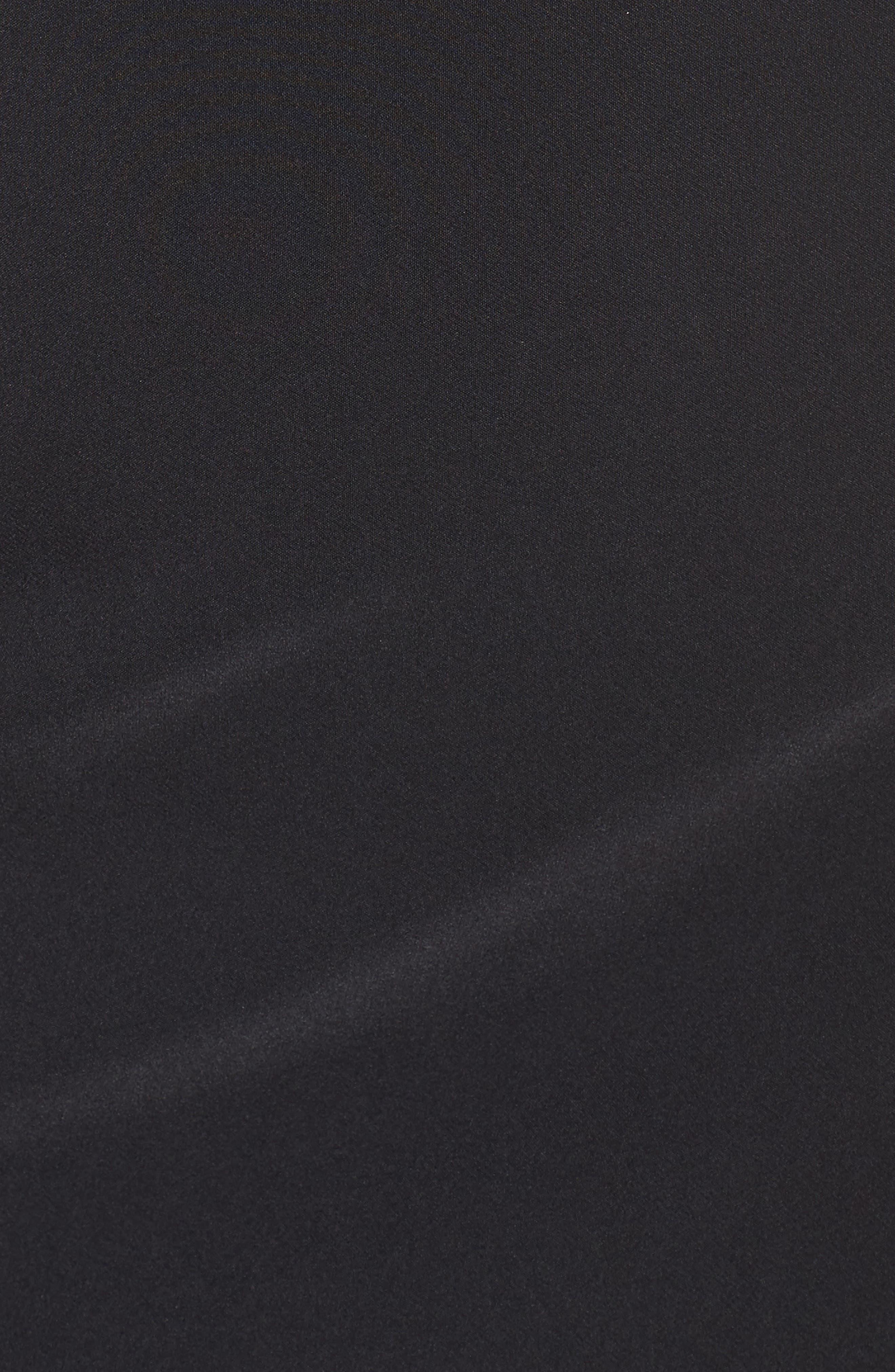 Lace Front Sheath Dress,                             Alternate thumbnail 5, color,                             001