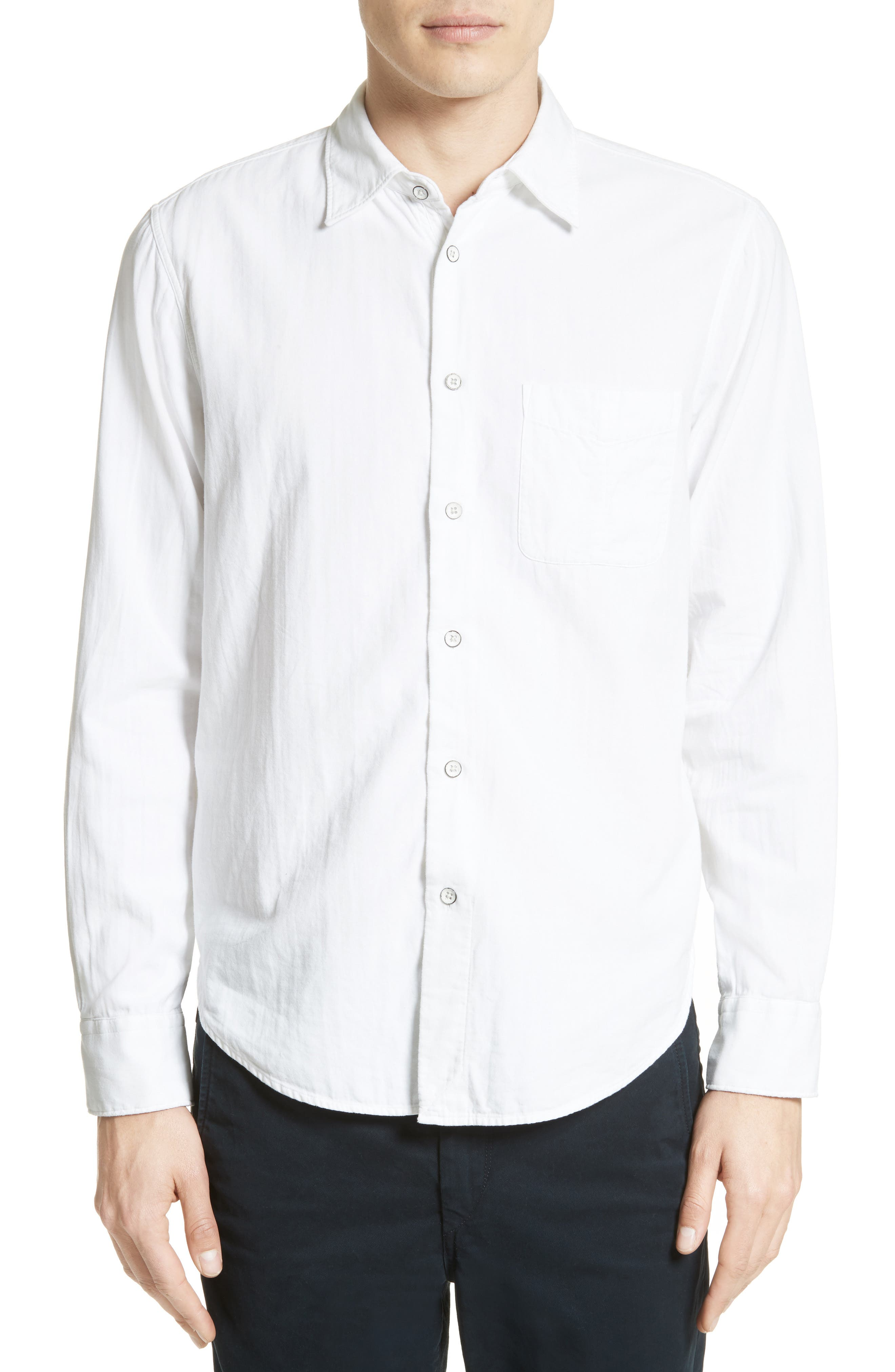 Standard Issue Solid Sport Shirt,                         Main,                         color, WHITE