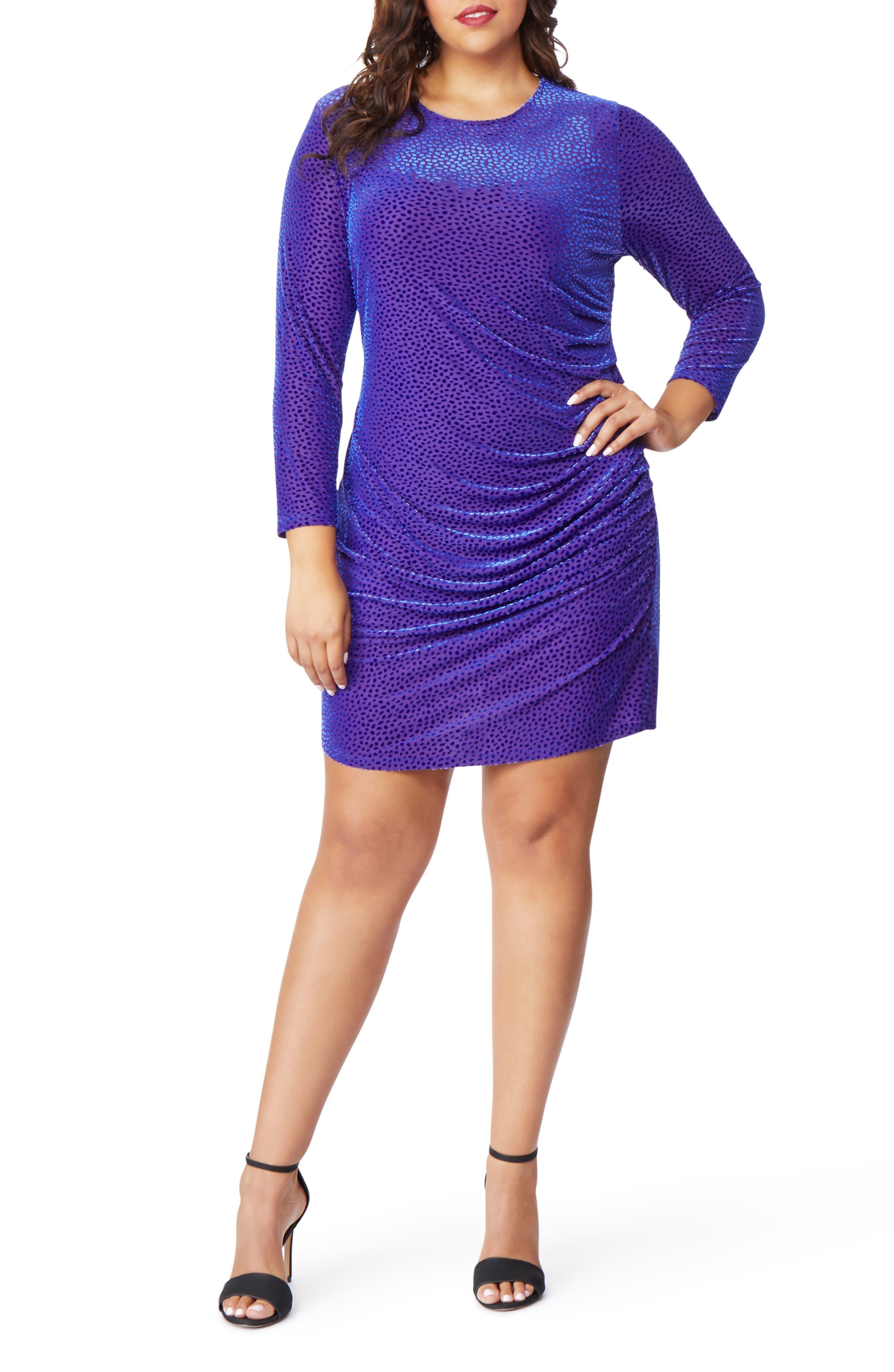 Sweetheart Burnout Dress,                         Main,                         color, DOT DEVORE