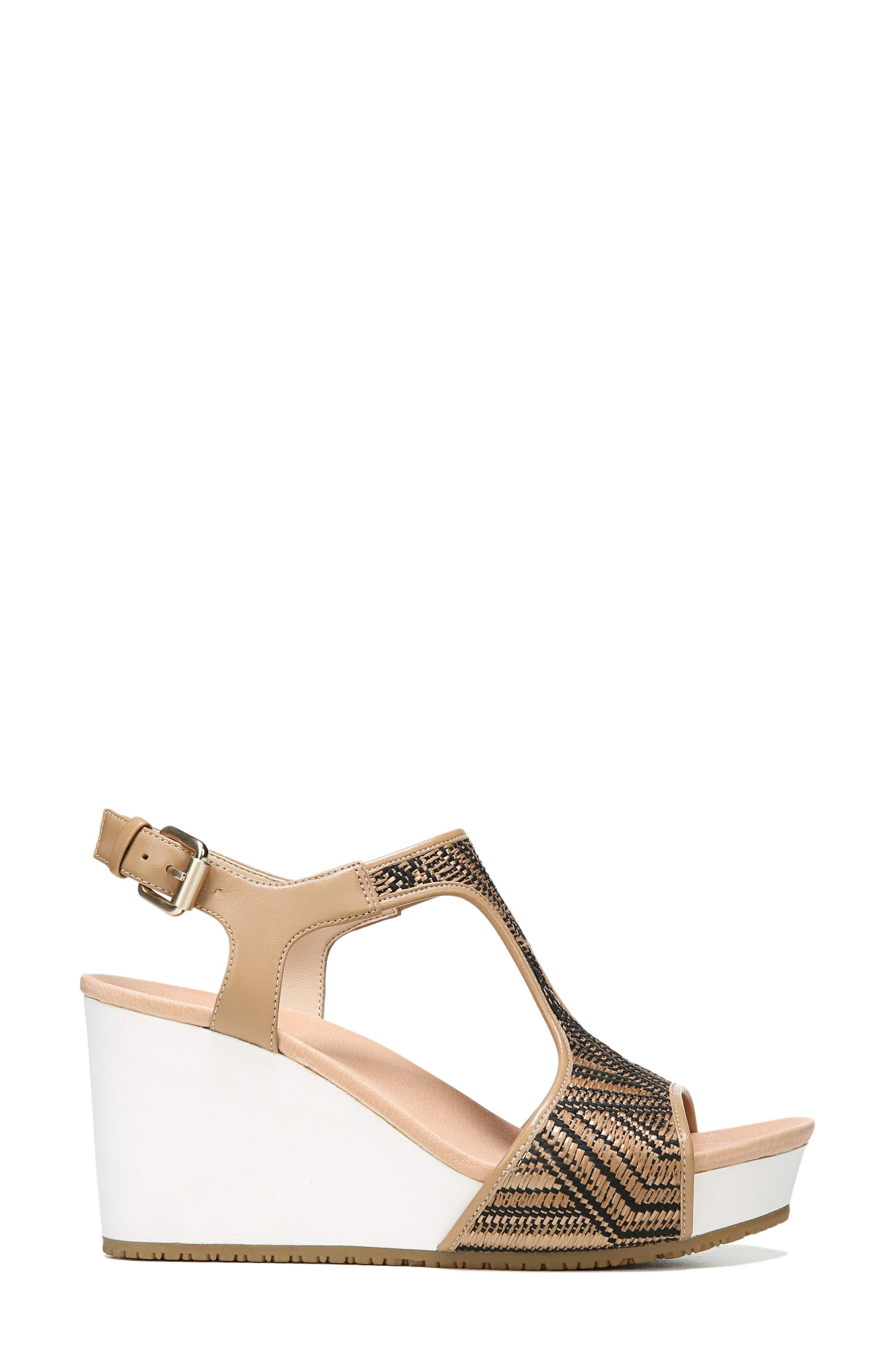 'Original Collection Wiley' Wedge Sandal,                             Alternate thumbnail 3, color,                             NUDE