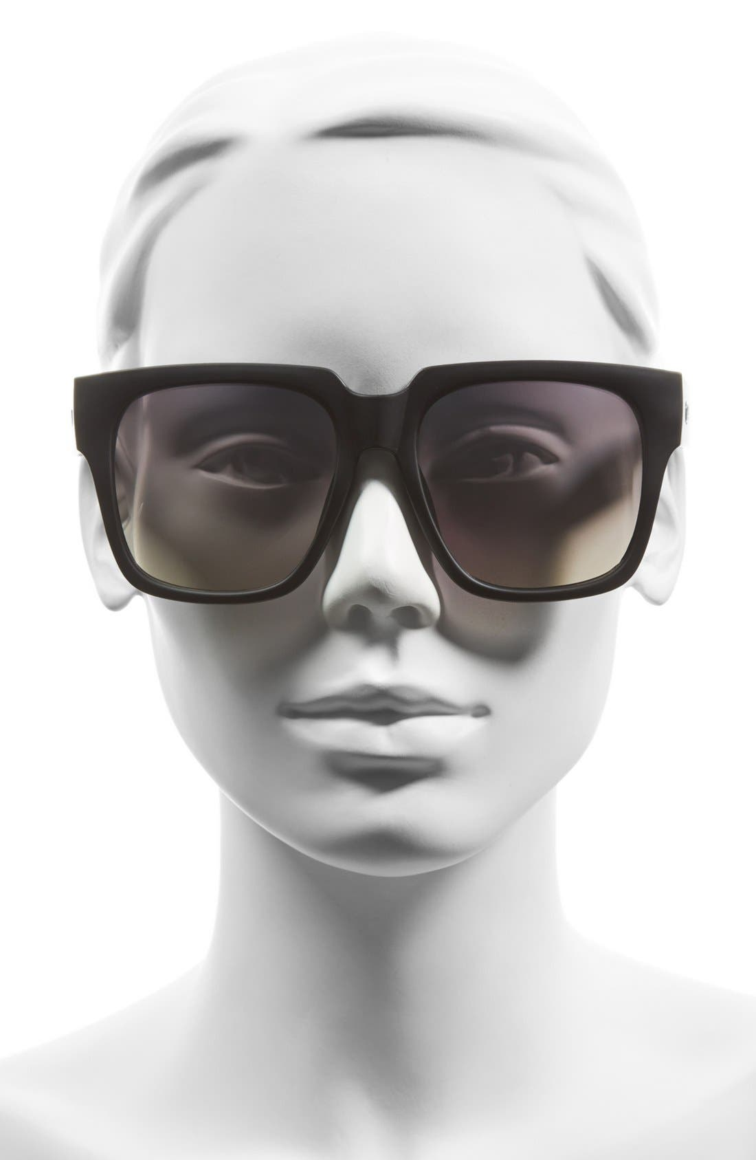 'On the Prowl' 55mm Square Sunglasses,                             Alternate thumbnail 5, color,