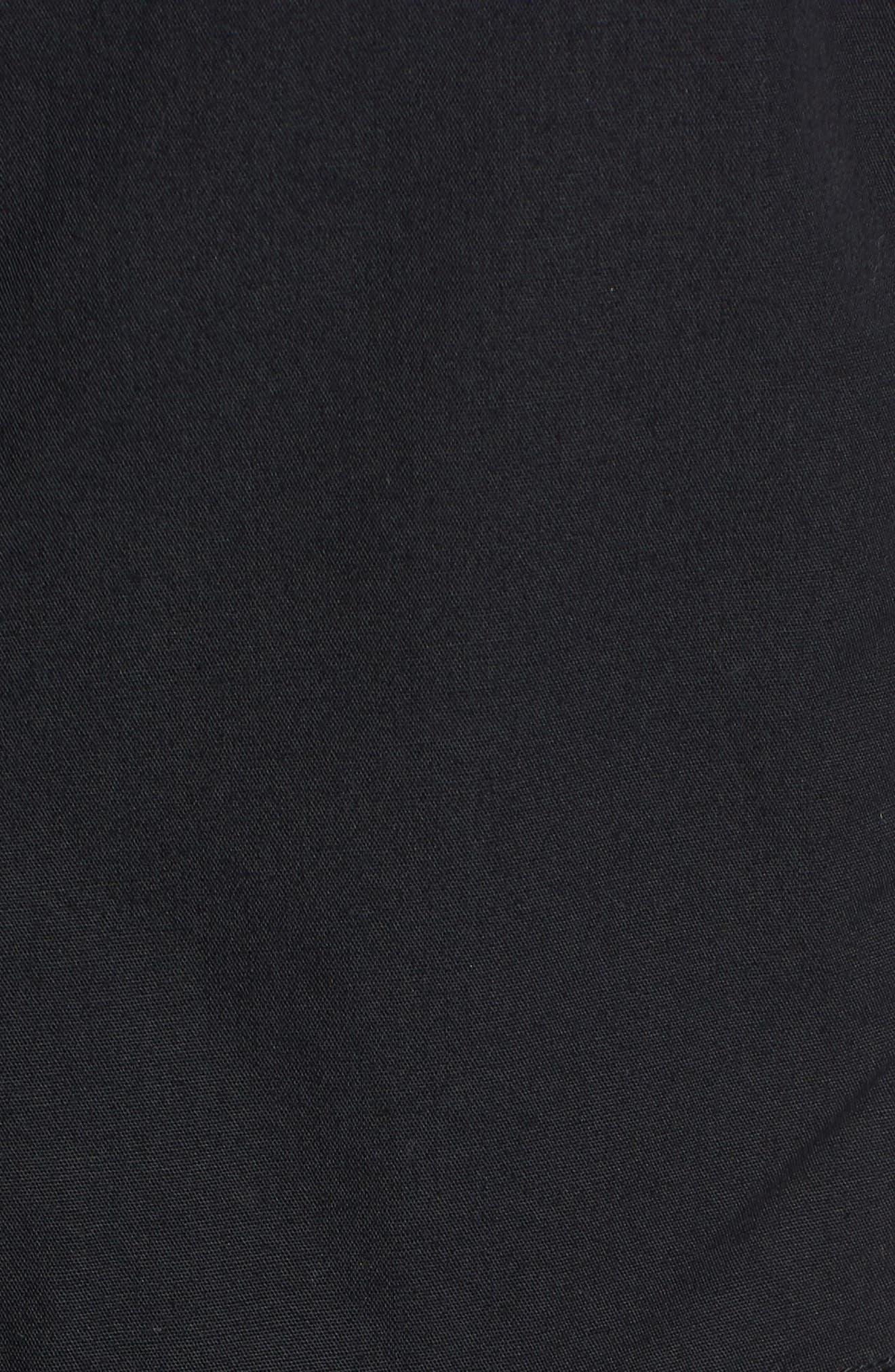 Button Front Midi Dress,                             Alternate thumbnail 5, color,                             001
