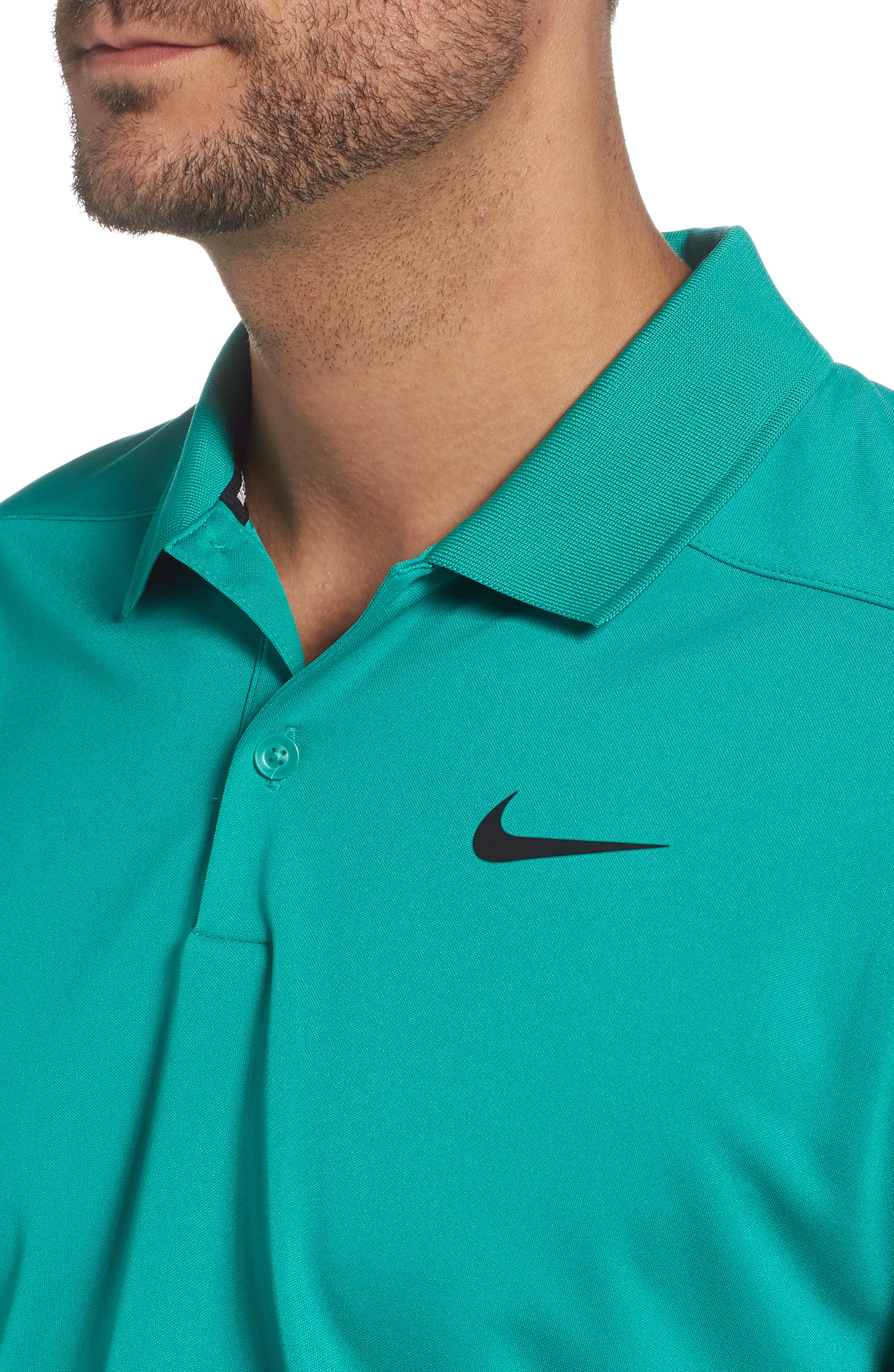 Dry Victory Golf Polo,                             Alternate thumbnail 4, color,                             NEPTUNE GREEN/ BLACK
