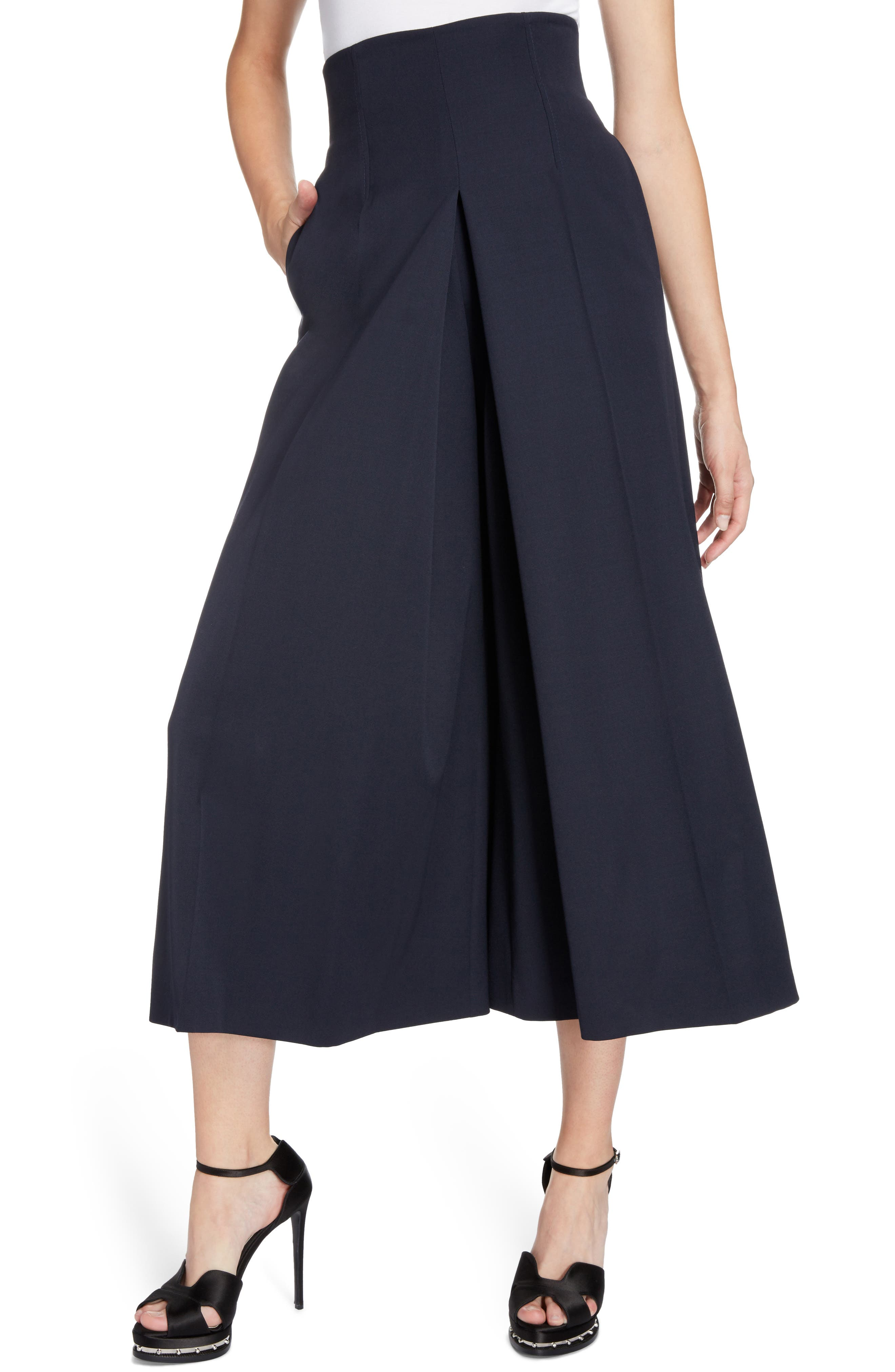 Wool Culottes,                             Alternate thumbnail 4, color,