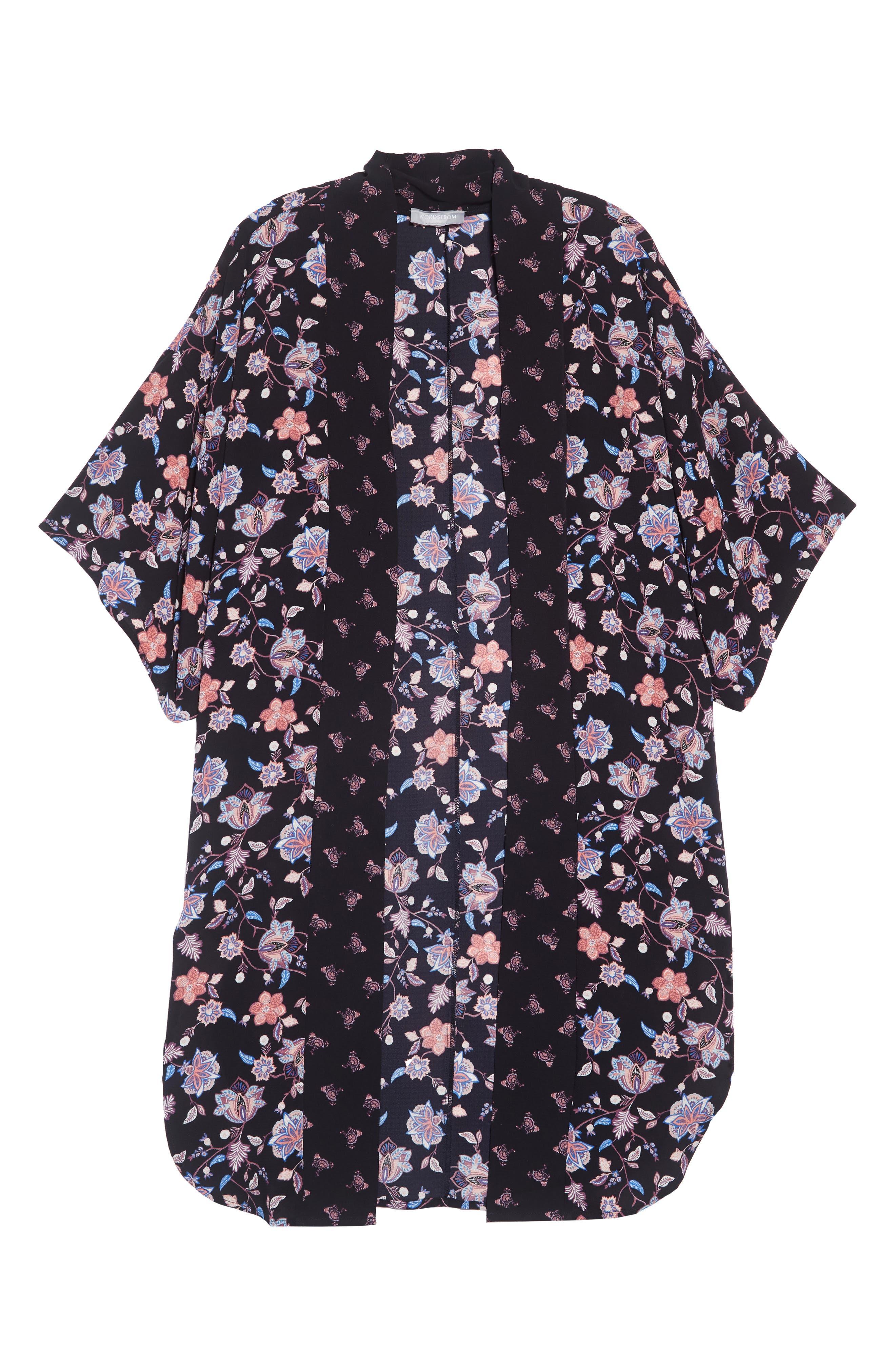 Print Kimono,                             Alternate thumbnail 6, color,                             NAVY COMBO