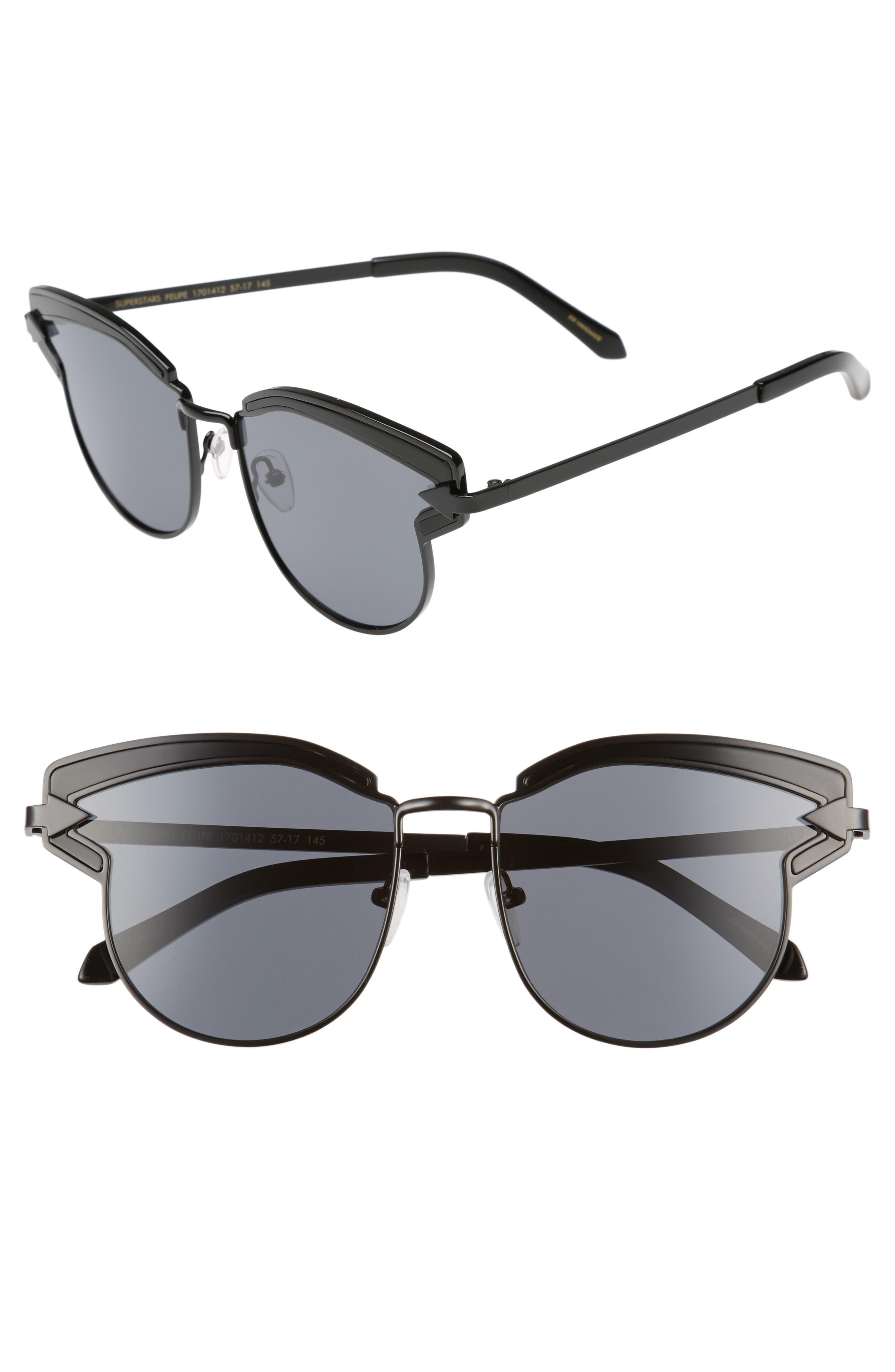 Buccaneer 47mm Round Sunglasses,                             Main thumbnail 1, color,