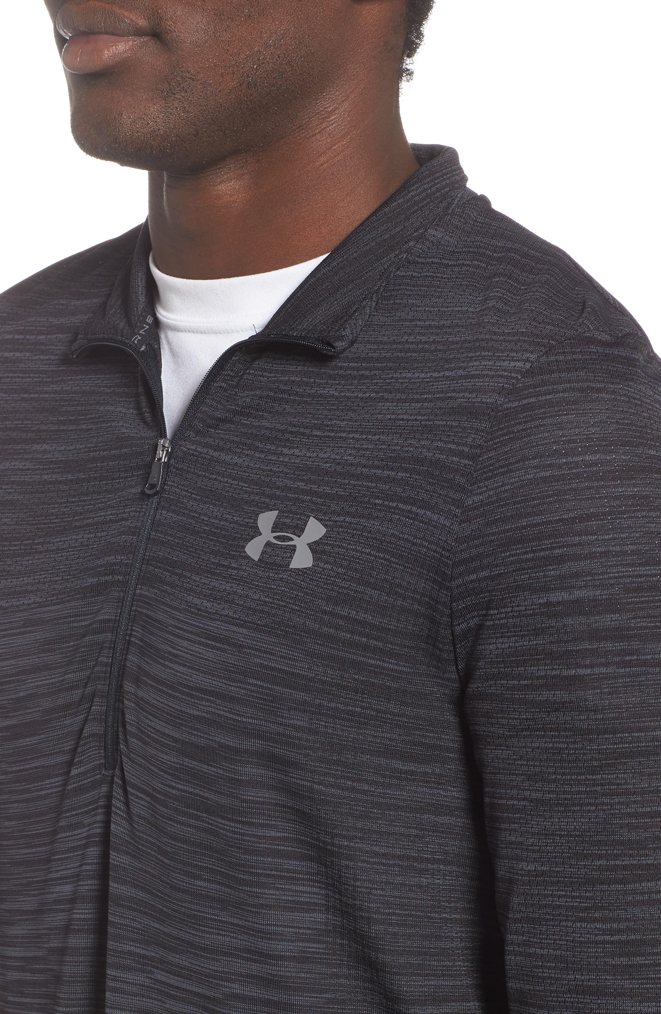 Siphon Regular Fit Half-Zip Pullover,                             Alternate thumbnail 4, color,                             BLACK