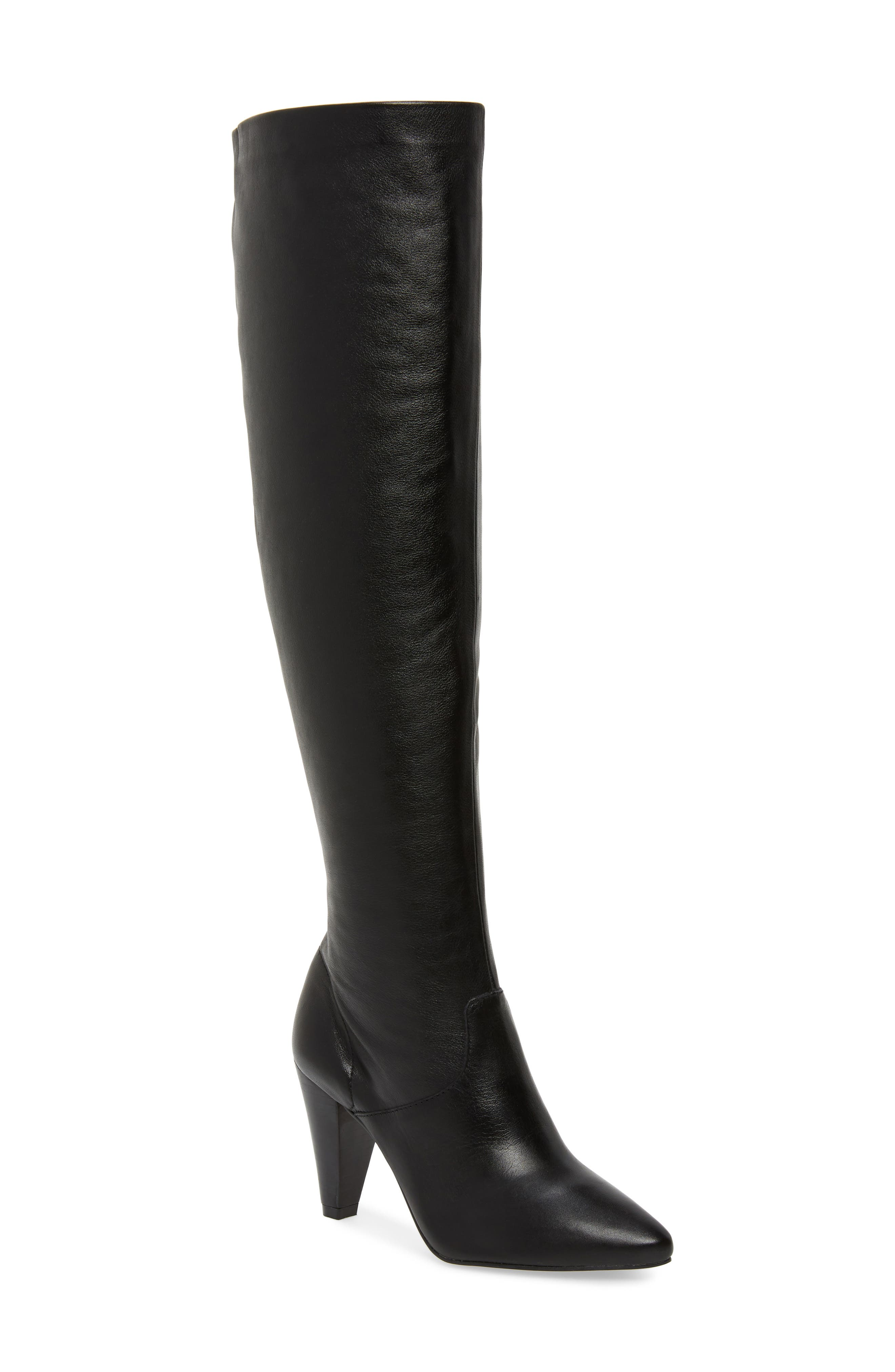 LUST FOR LIFE California Over The Knee Boot in Black Leather