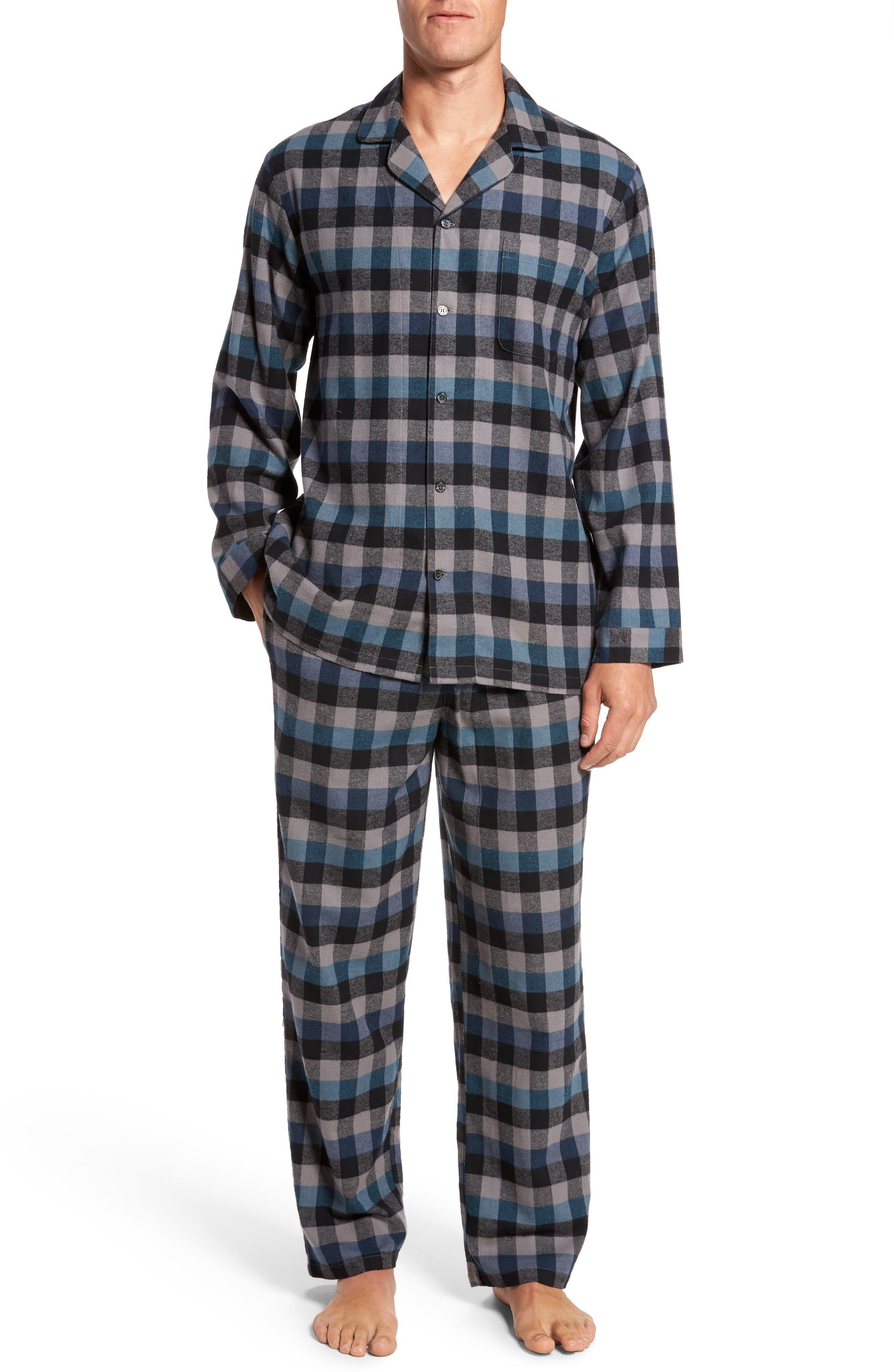 '824' Flannel Pajama Set,                             Main thumbnail 3, color,