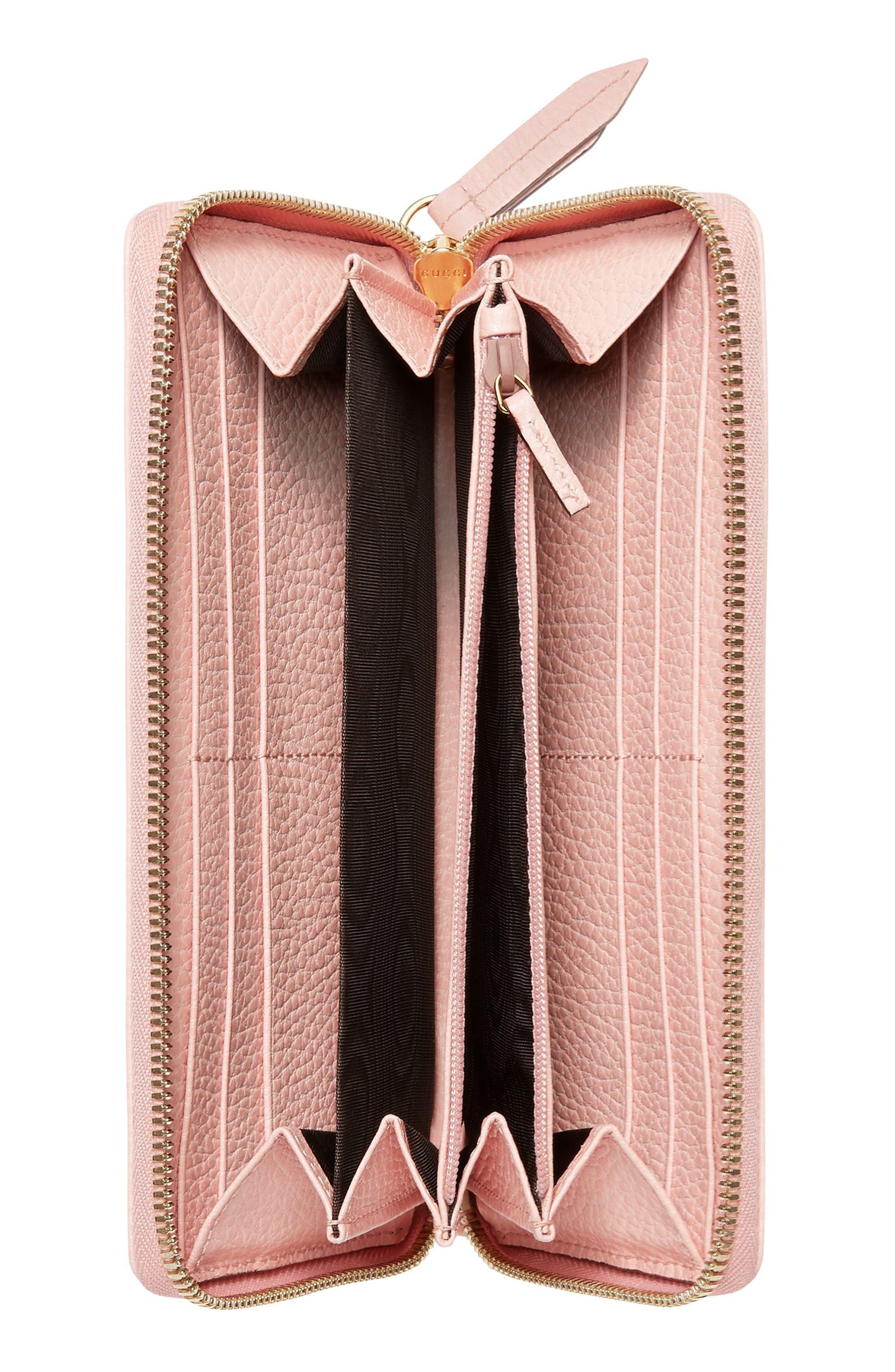 Petite Marmont Leather Zip Around Wallet,                             Alternate thumbnail 2, color,                             650