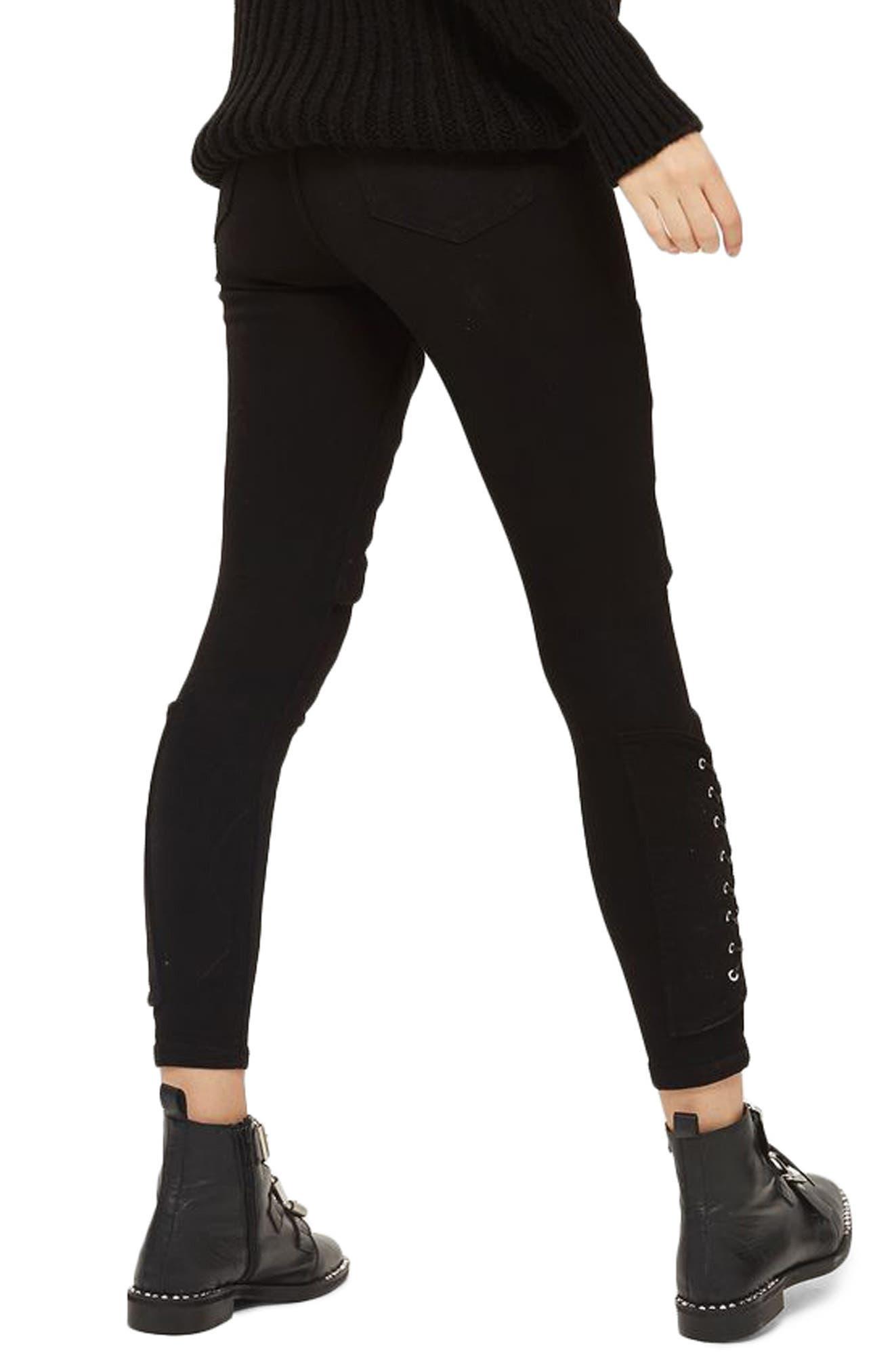 Jamie Corset Leg High Rise Jeans,                             Alternate thumbnail 2, color,                             001
