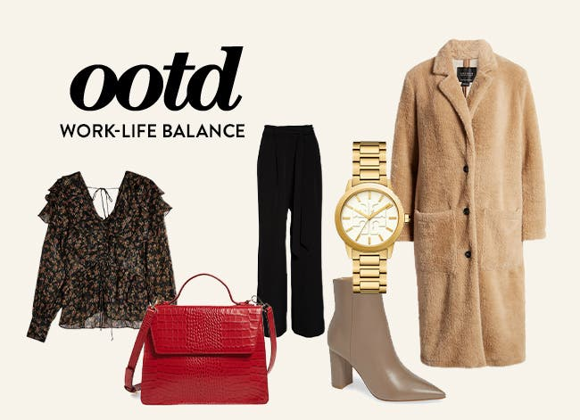Outfit of the day: work-life balance.