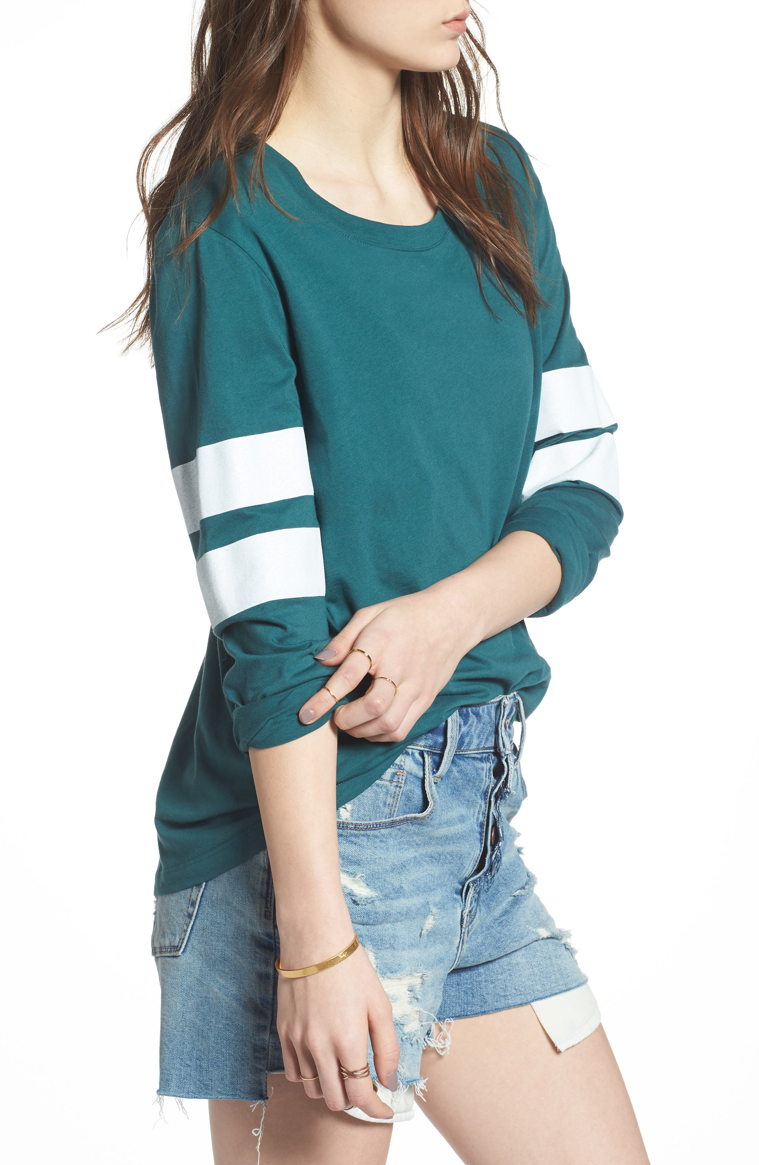 Varsity Stripe Cotton Tee,                             Alternate thumbnail 53, color,