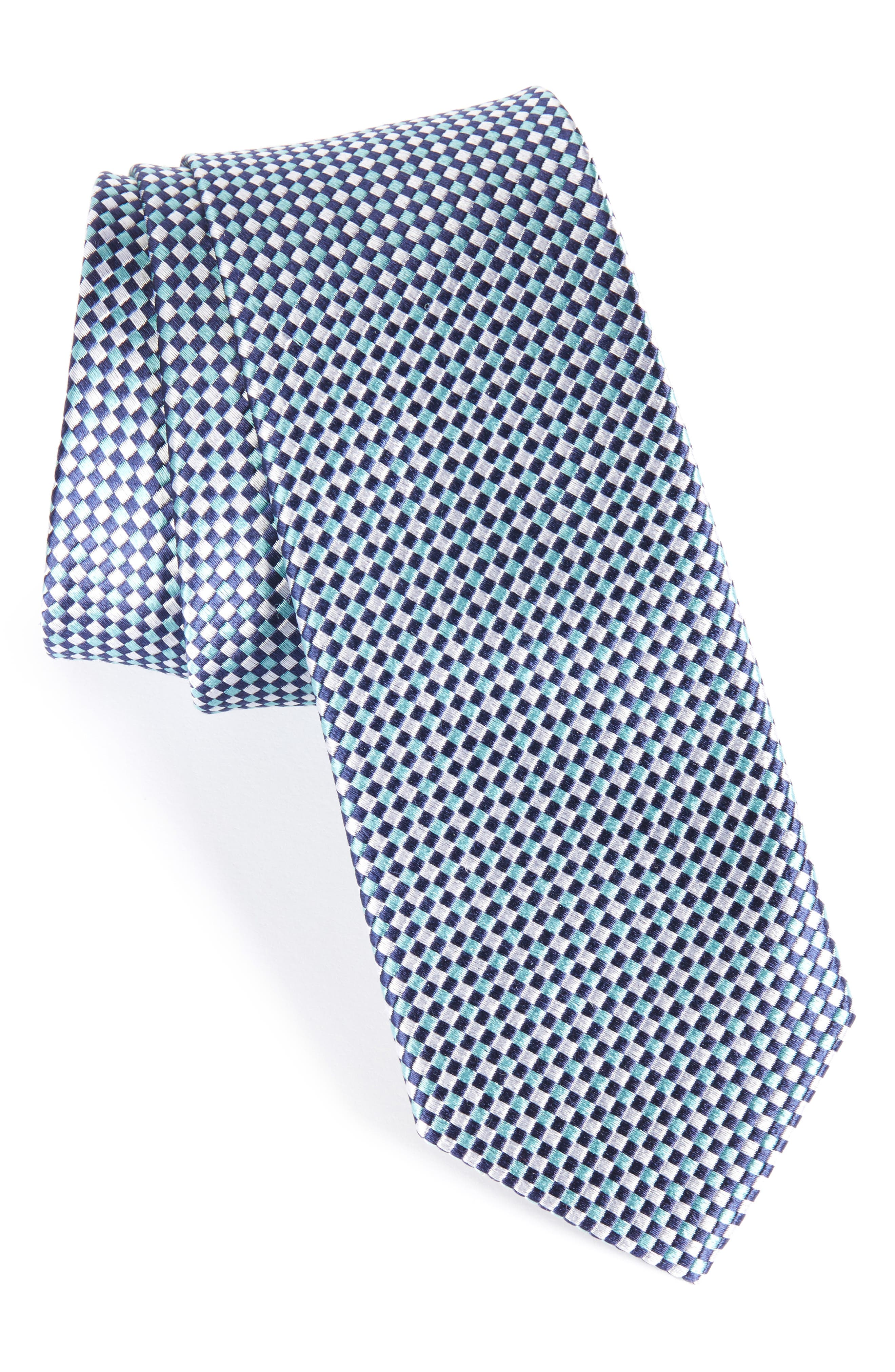 NORDSTROM MEN'S SHOP Solid Silk Skinny Tie, Main, color, 450