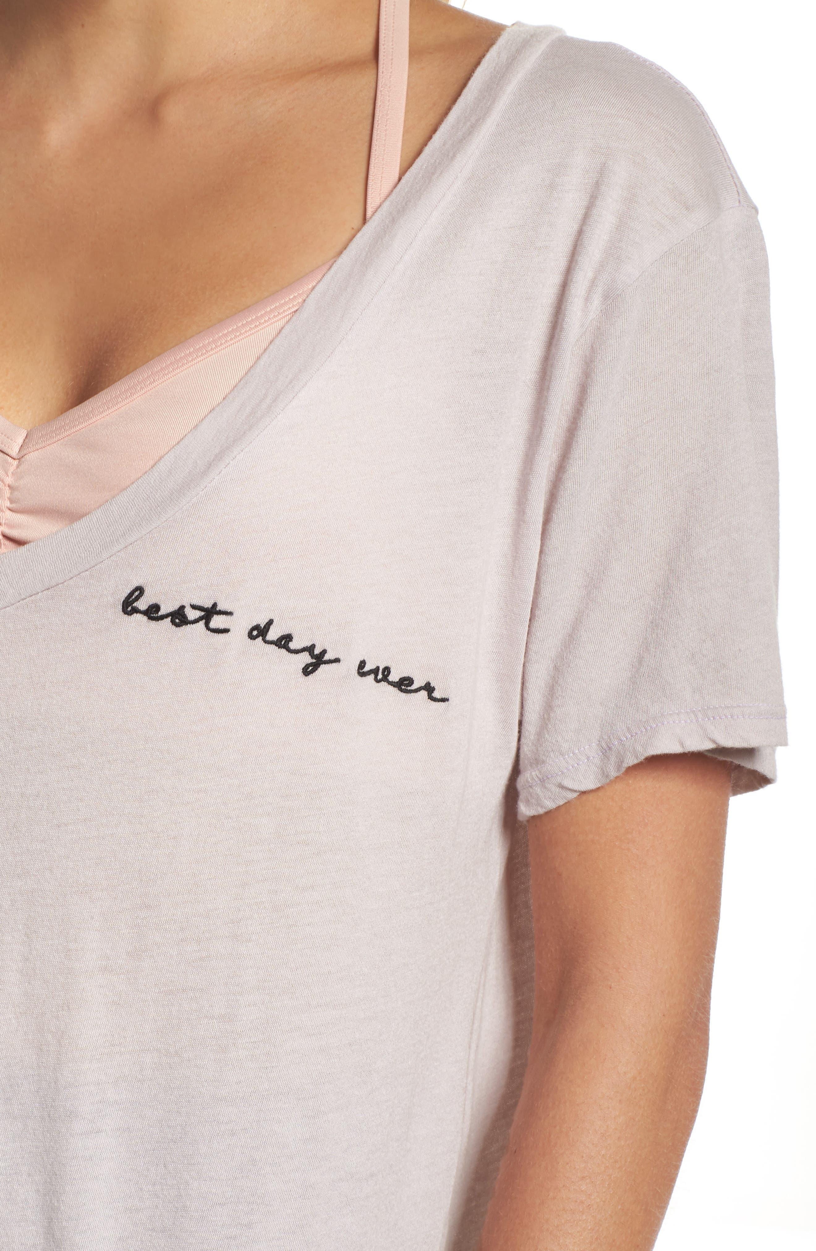 Aiden Best Day Ever V-Neck Shirt,                             Alternate thumbnail 4, color,                             500